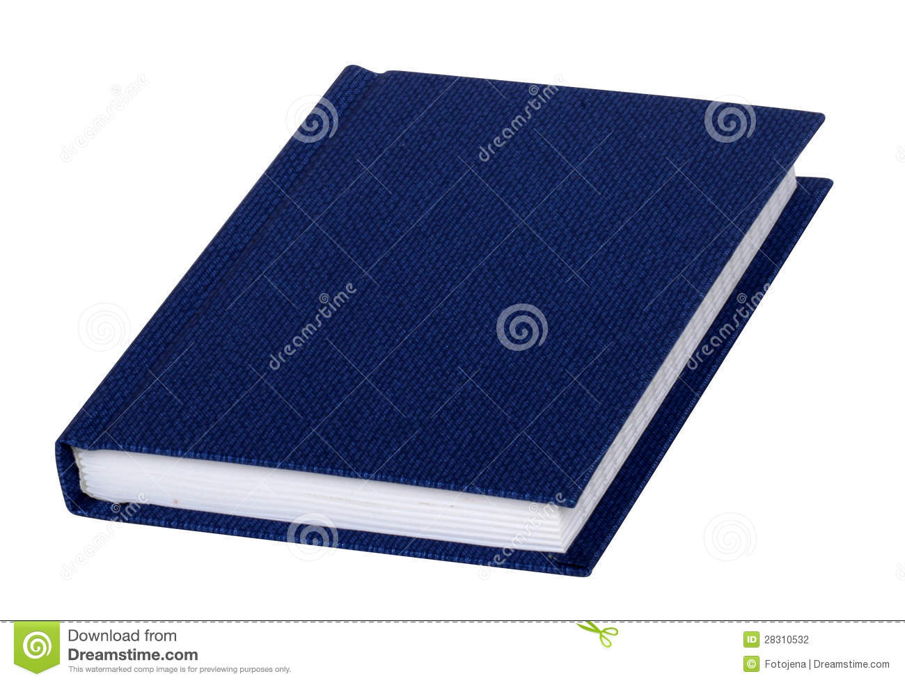 Blue Covered Book ~ Blank blue book cover stock photography image