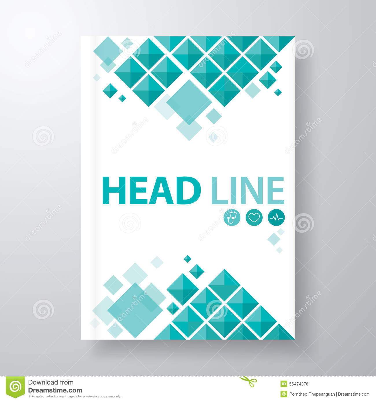 Book cover stock vector illustration of booklet blank for Design a book jacket template