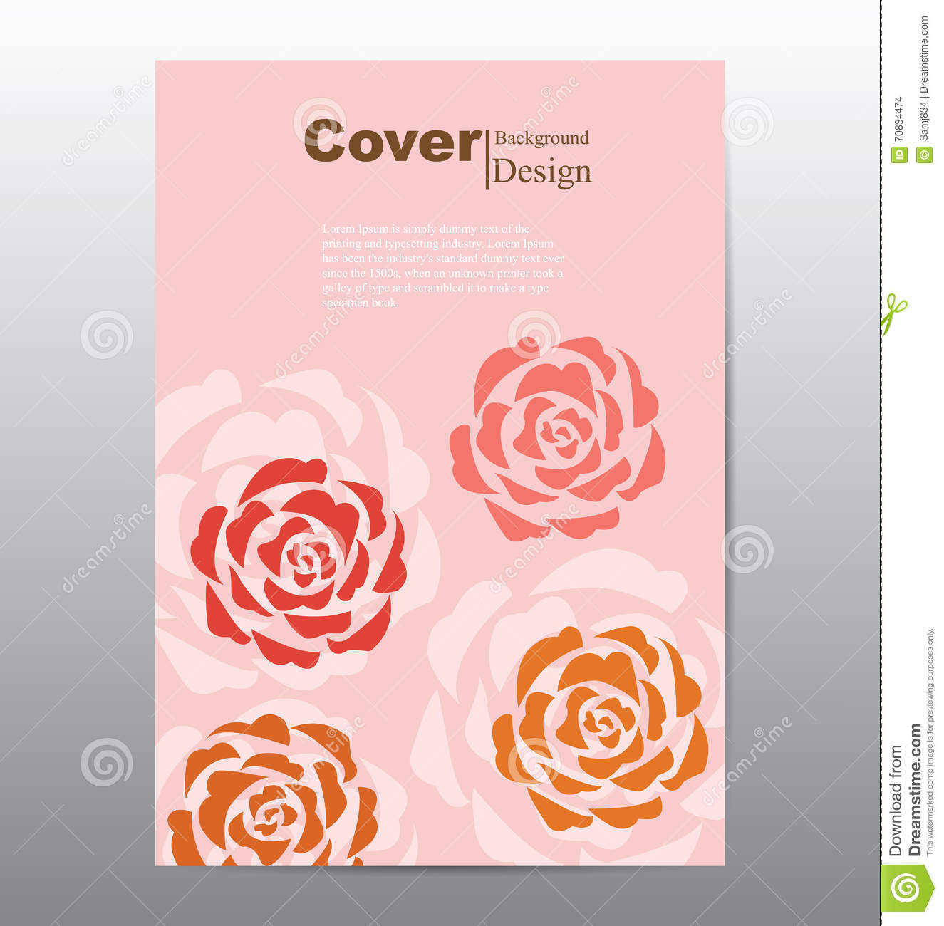 Book Cover Design Flower : Book cover with abstract flower background stock vector
