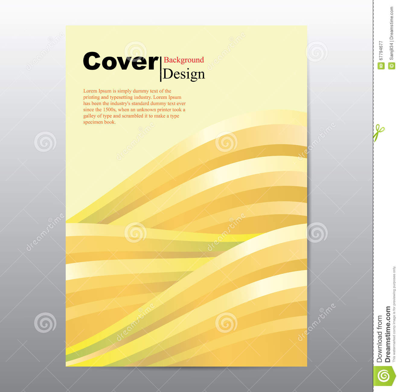 Cover Book Brochure Layout Vector ~ Book cover with abstract line waves background stock