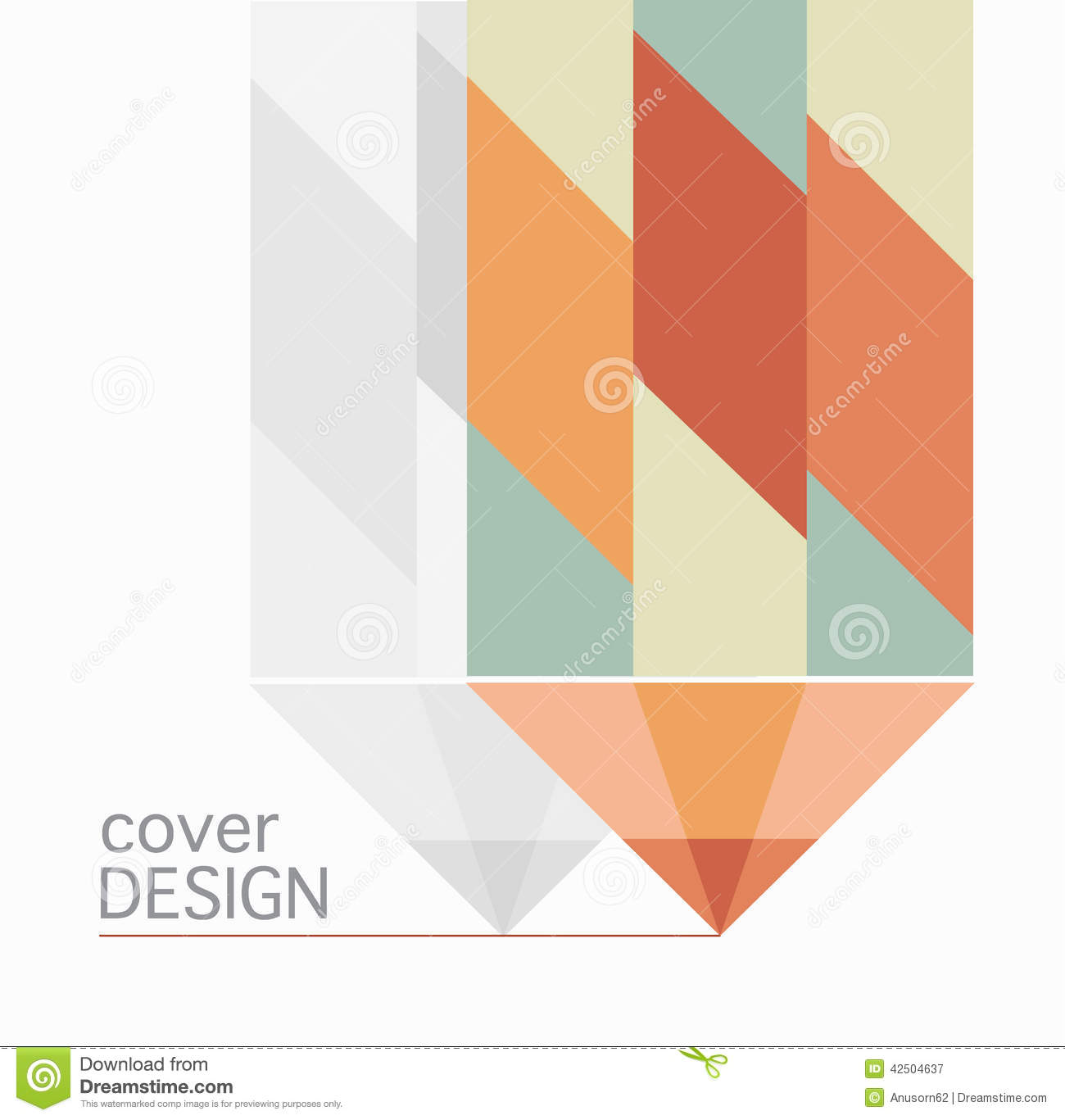 Book Cover Design Vector Download : Book cover annual report colorful pencil design vector
