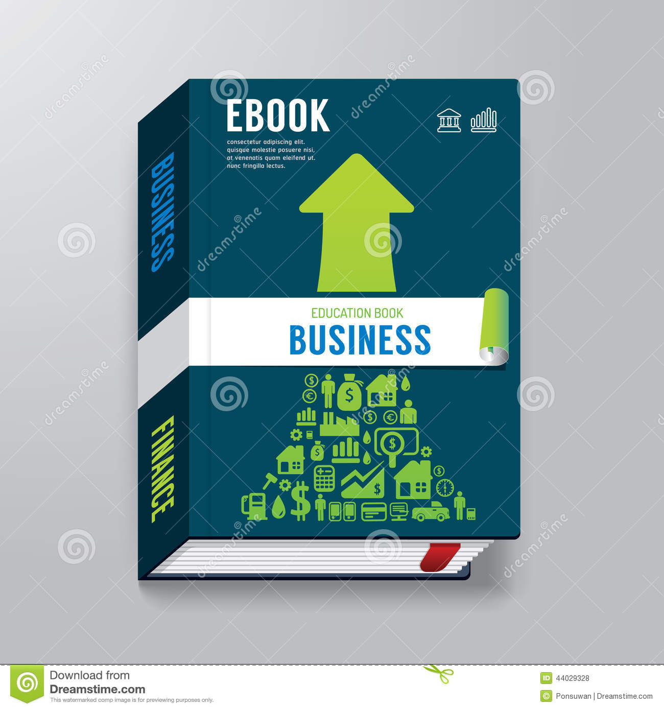 Book Cover Design Template Vector Illustration Free Download ~ Book cover business design template e stock vector
