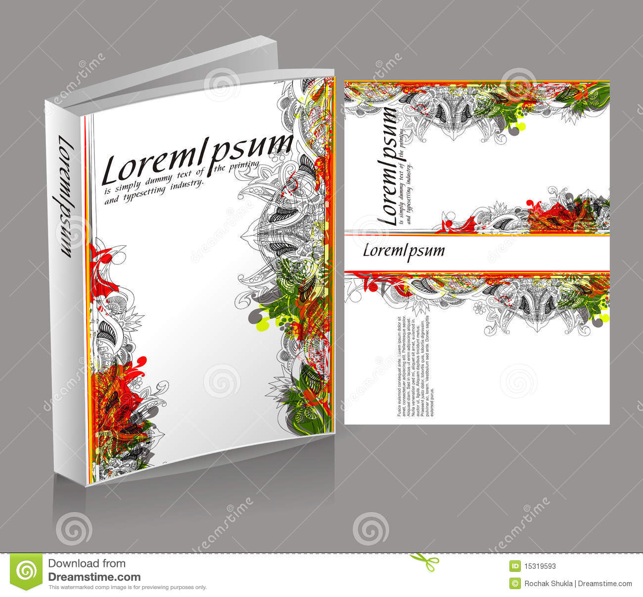 Book Jacket Cover Design : Book cover design stock vector image of closed modern