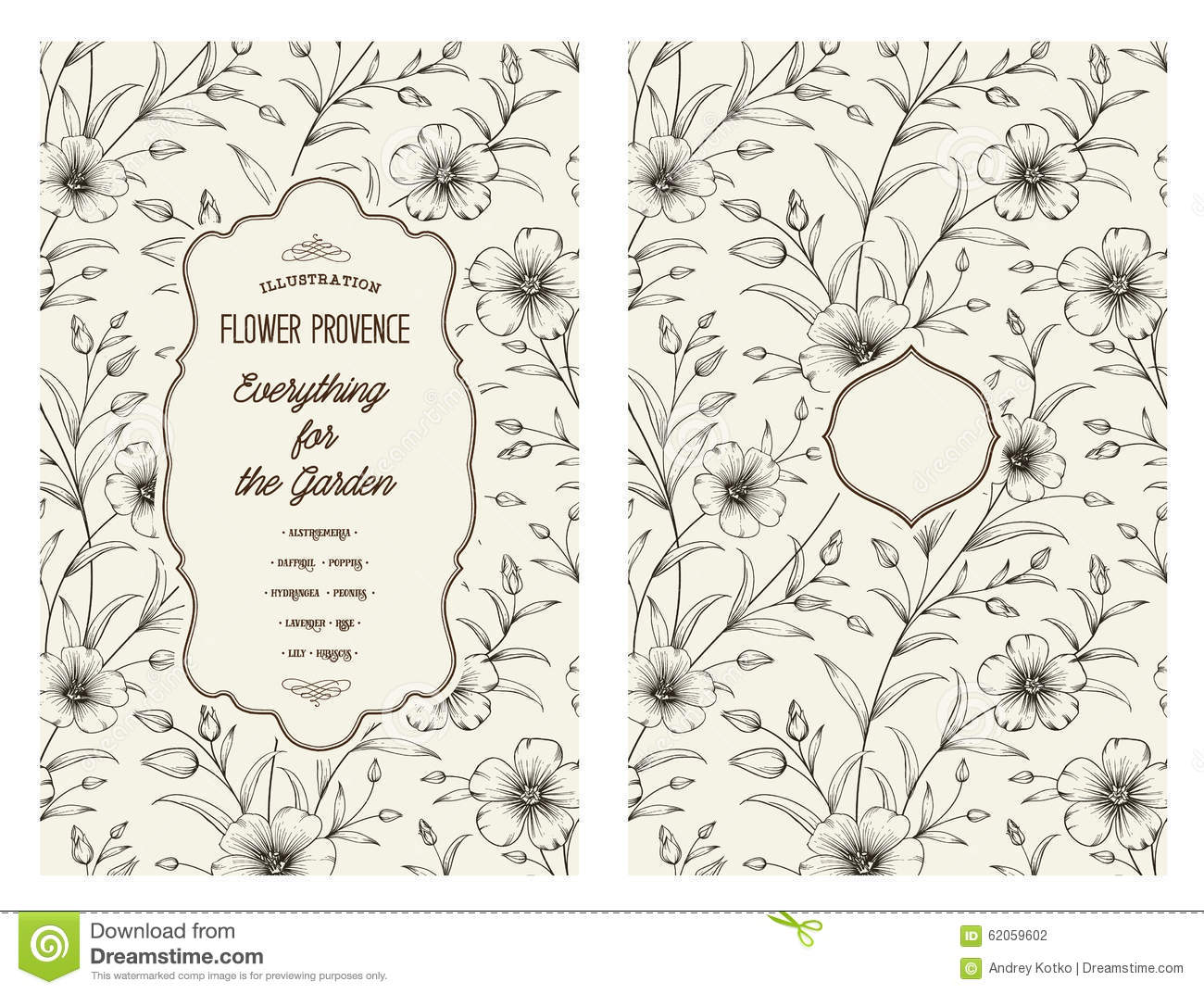 Vintage Flower Book Cover : Book cover design stock vector image