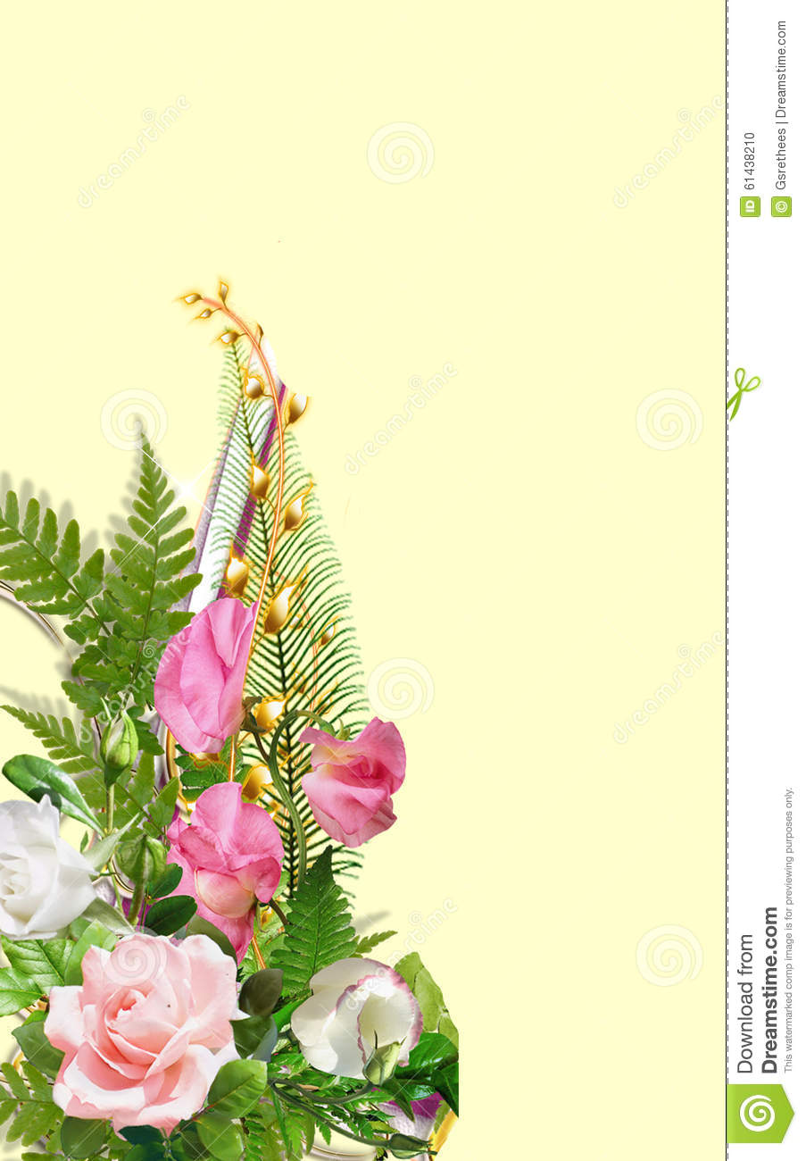 Book Cover Flower : Book cover design stock illustration of