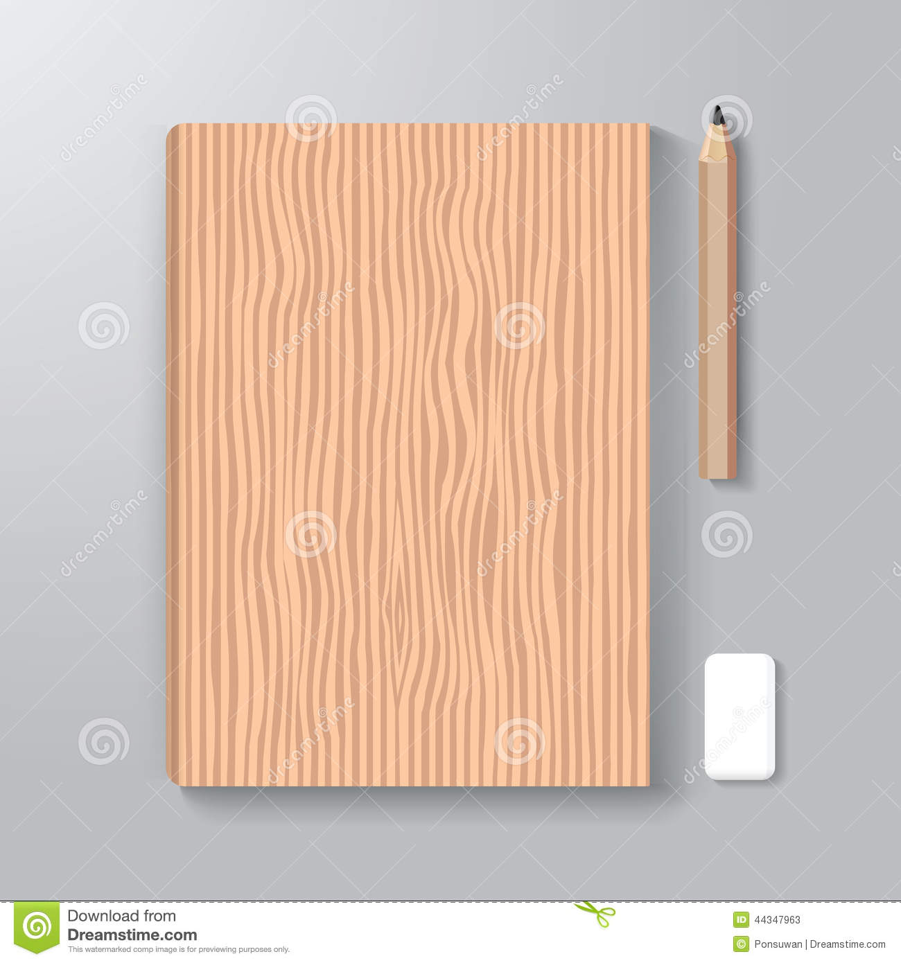 Wood Book Cover Material : Book cover design style template wood texture stock vector