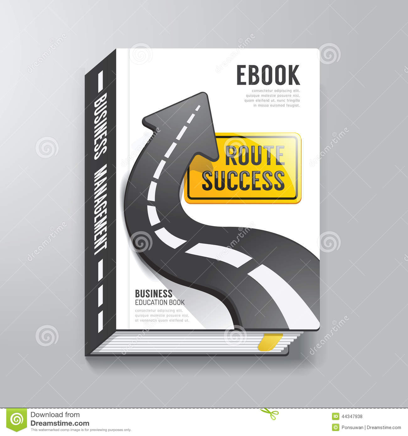 Book cover design template business concept stock vector for Design a book jacket template