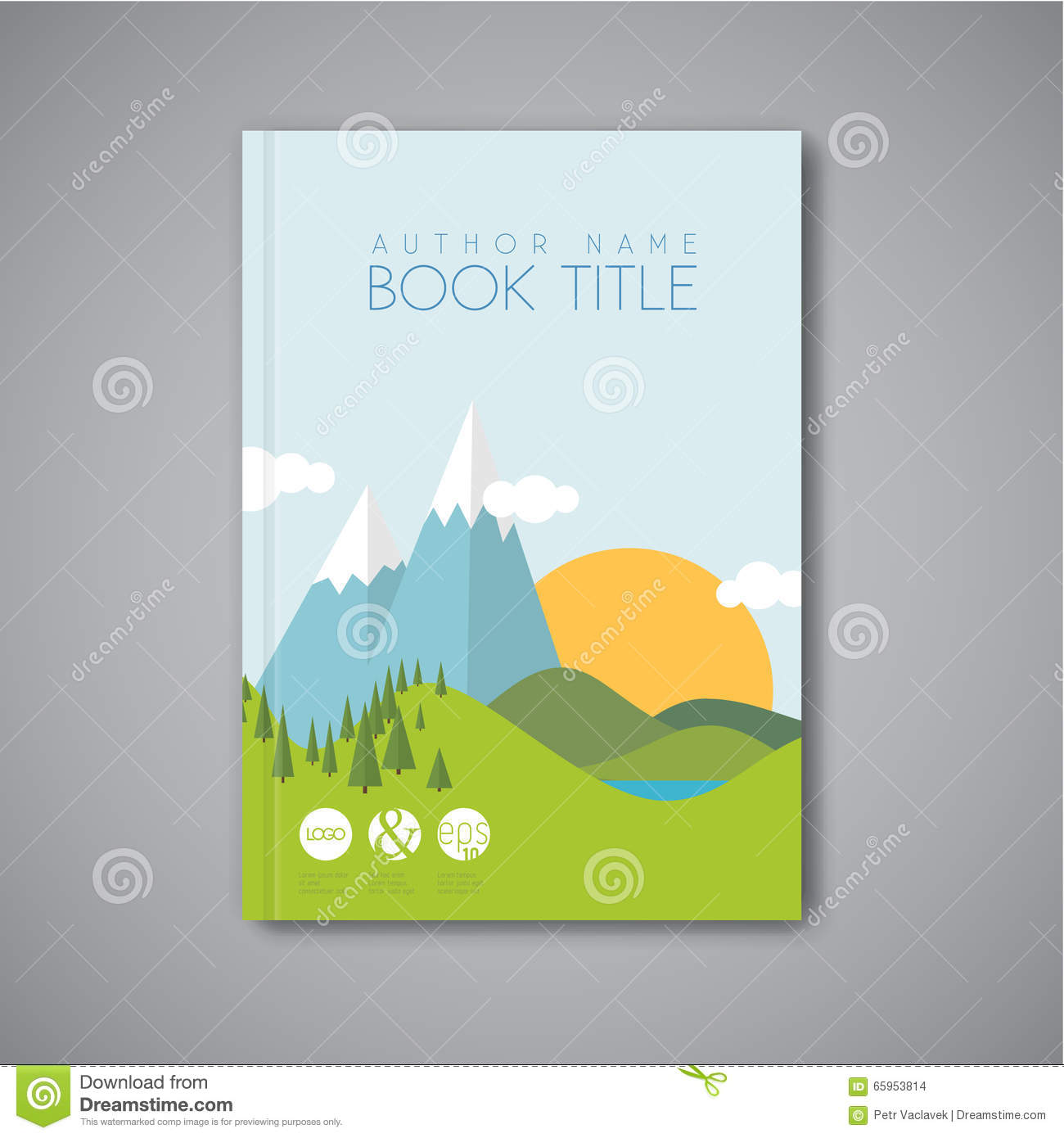 Minimalist Book Cover Template ~ The witch of white pine by jo naylor via flickr book