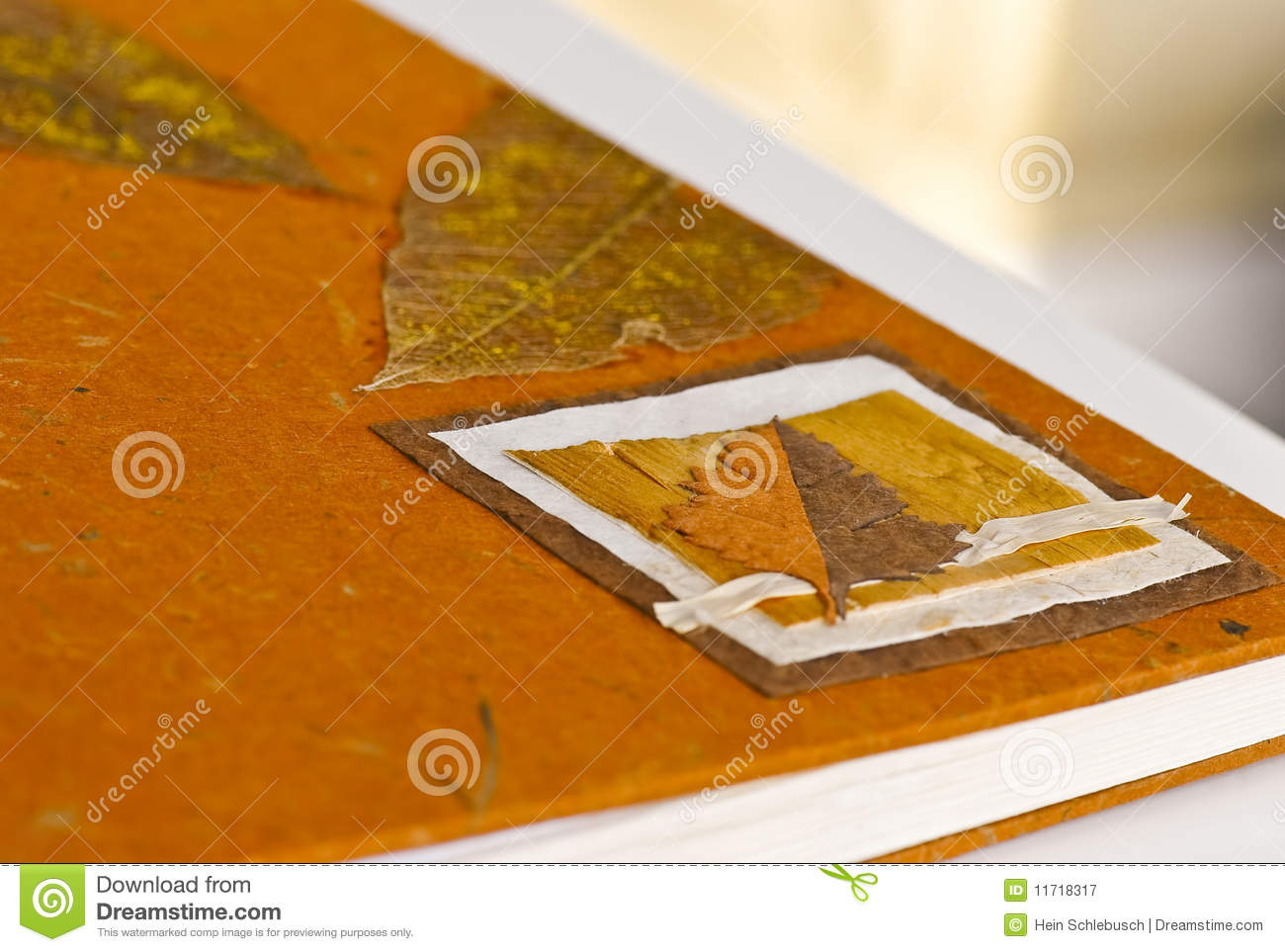 Photography Book Cover Fee : Book cover with dried leaves royalty free stock