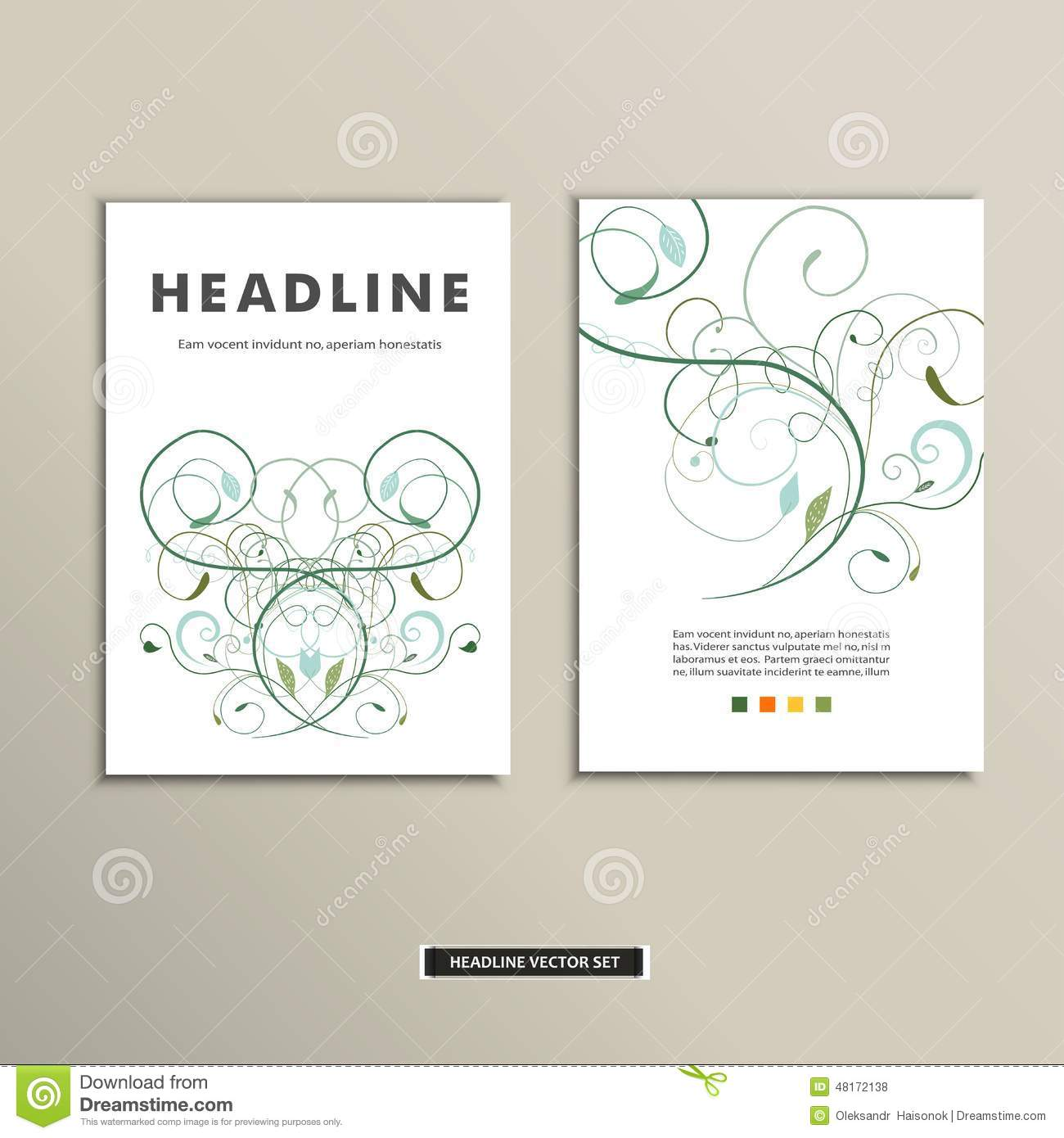 Book Cover Design With Flowers : Book cover with flowers vector vintage design stock