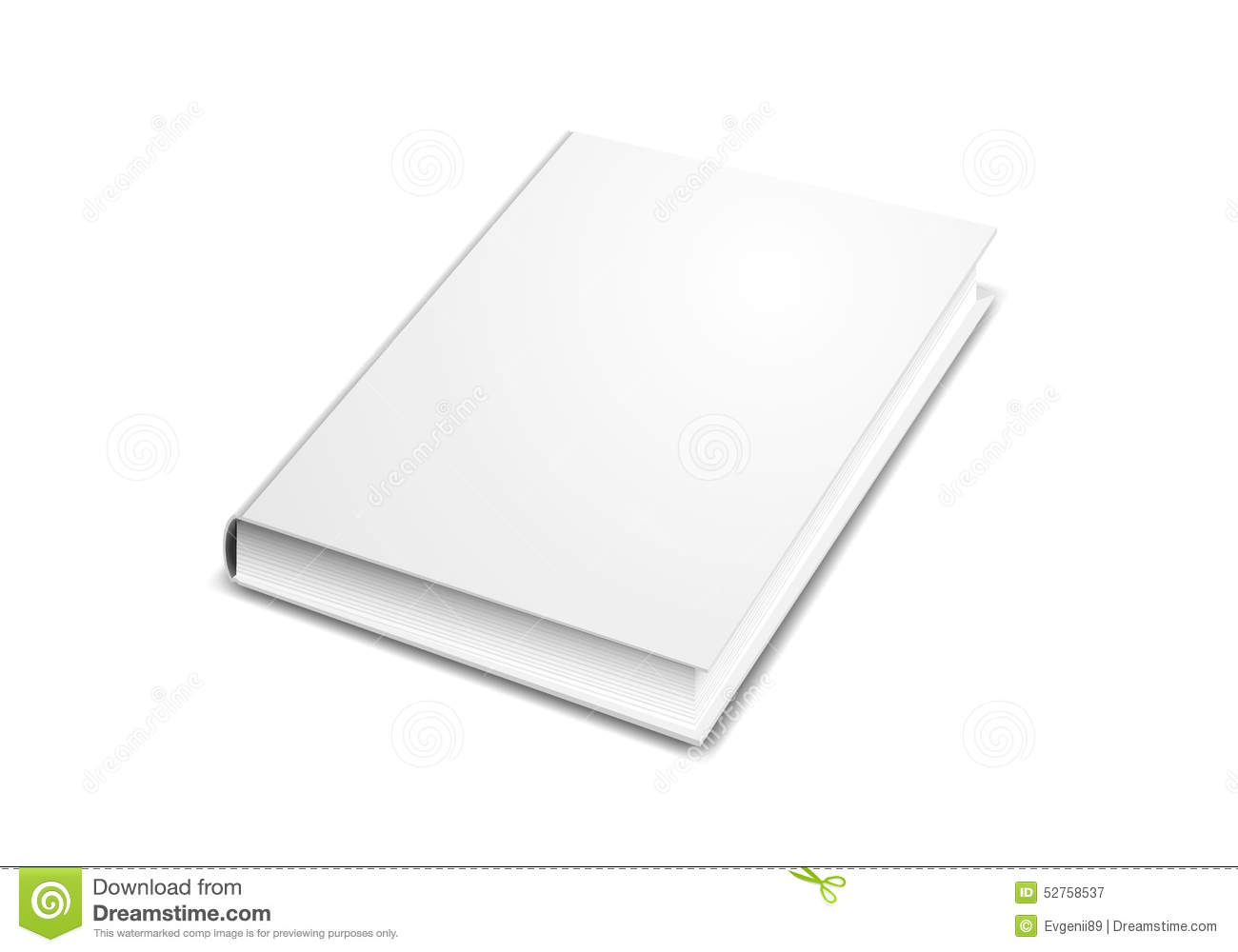 Plain White Book Cover : White plain book for design layout stock photo