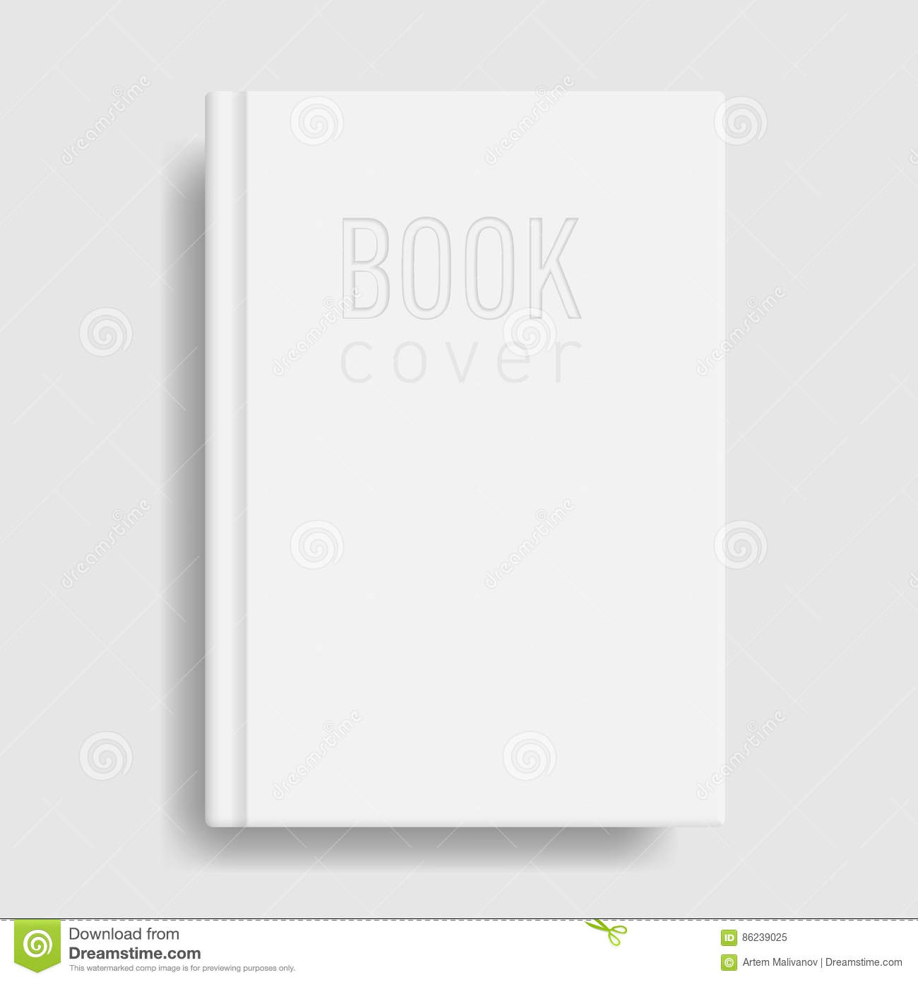 Blank Book Cover Vector Illustration Free ~ Book cover mockup blank white template stock vector