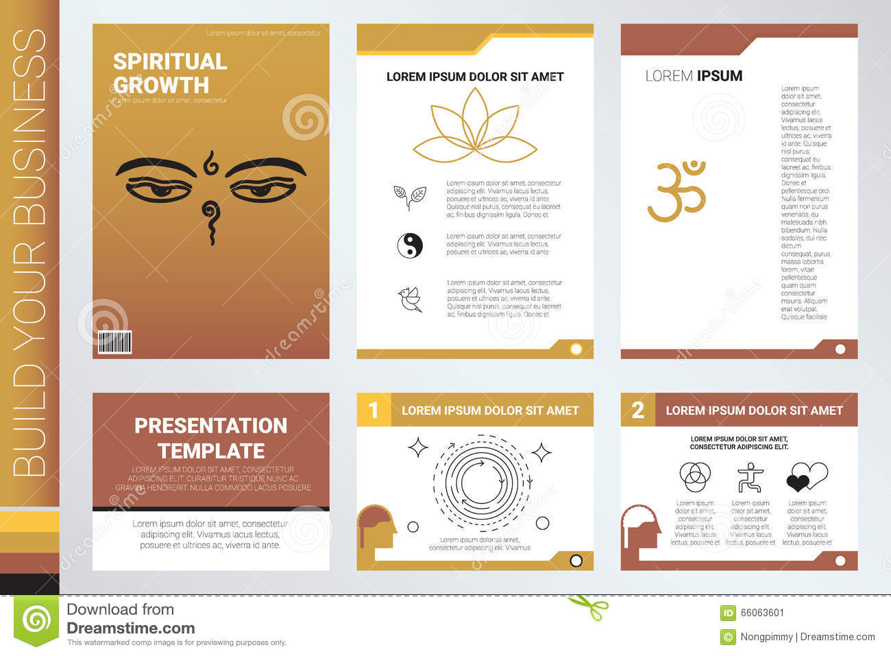 Book Cover And Presentation Template Vector Image 66063601 – Company Information Template