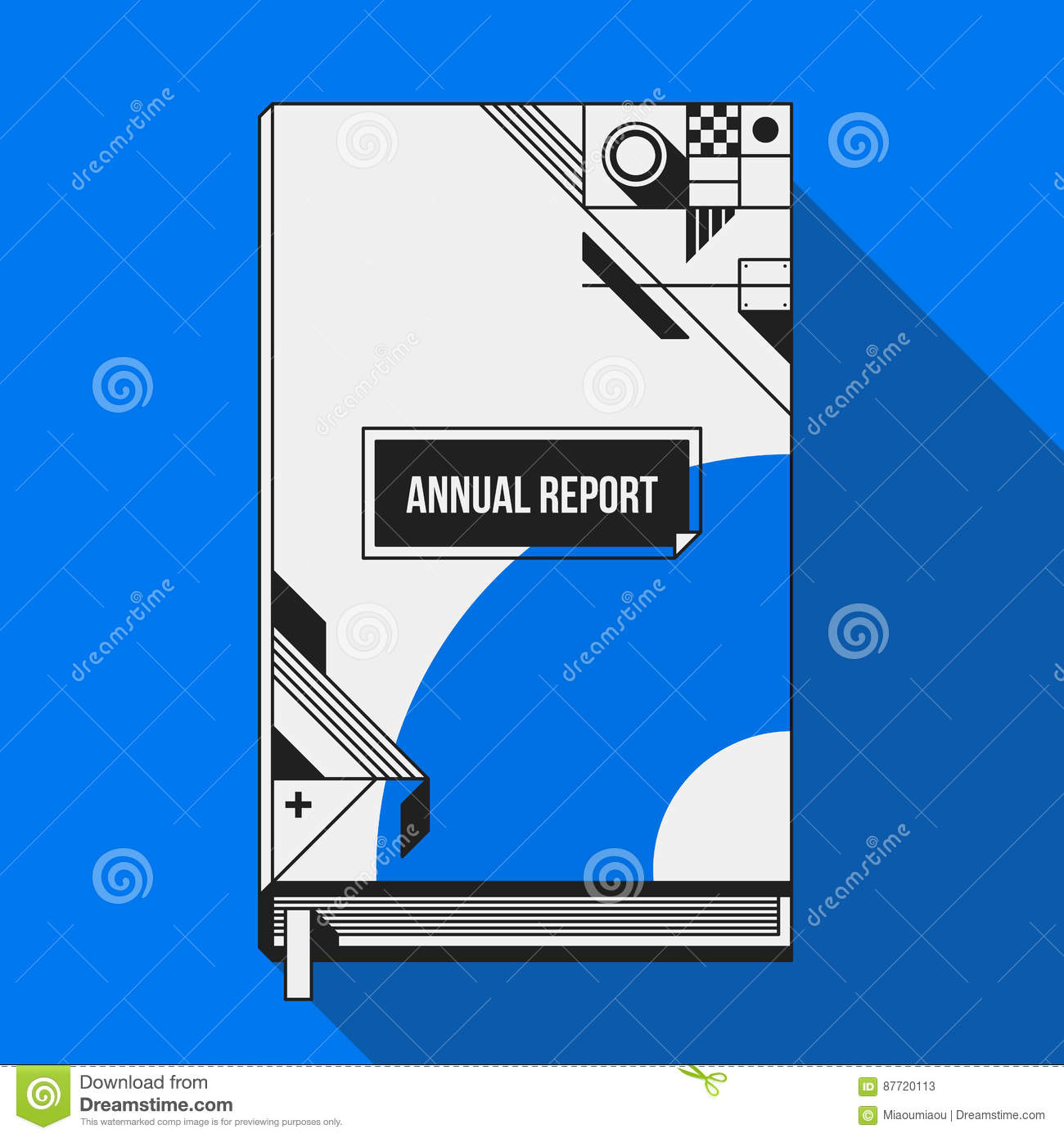 Book Cover Design Cartoon ~ Book cover print template with abstract shapes cartoon