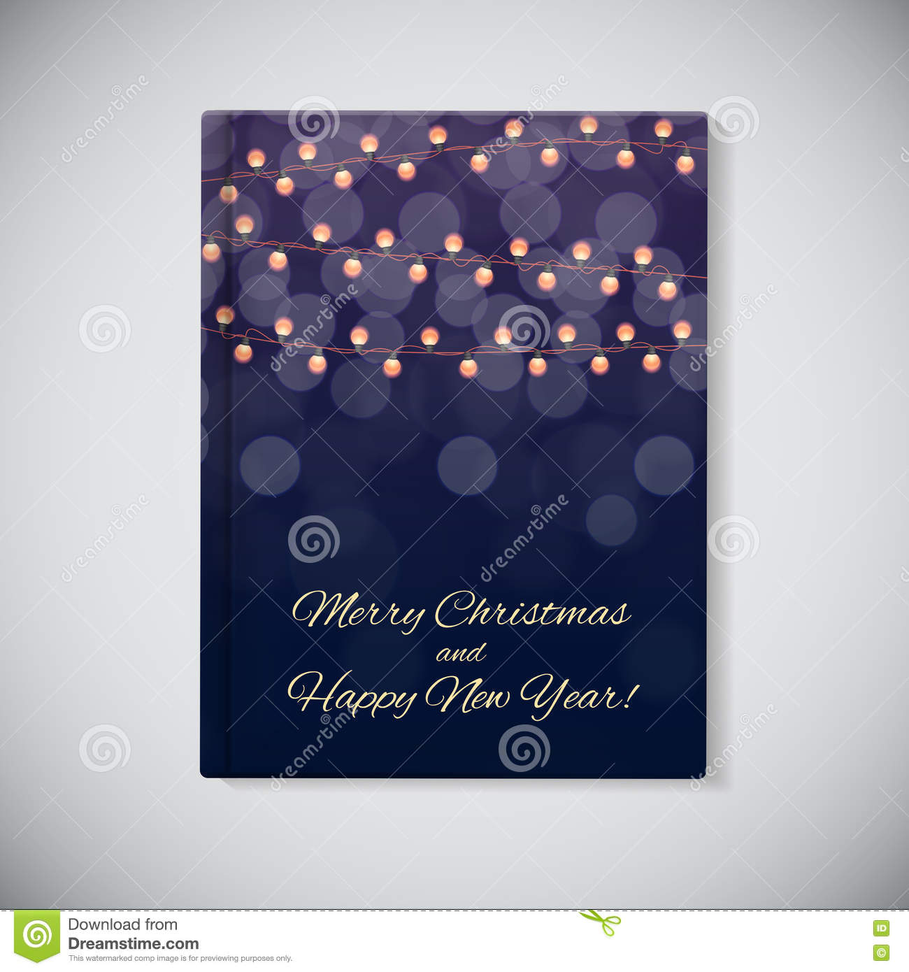 Book Cover Template Year : Book cover template abstract beauty merry christmas and