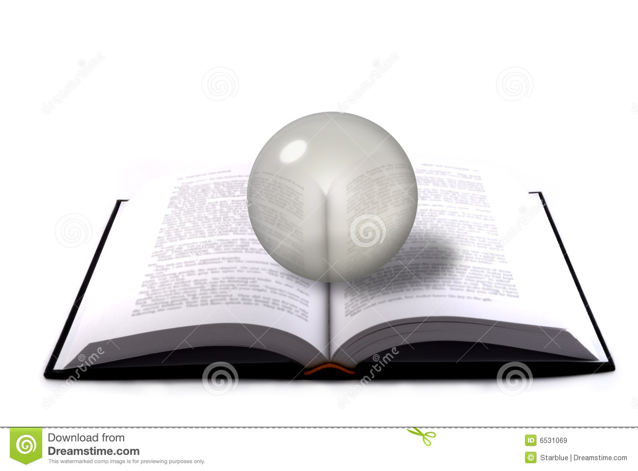 Book and crystal sphere