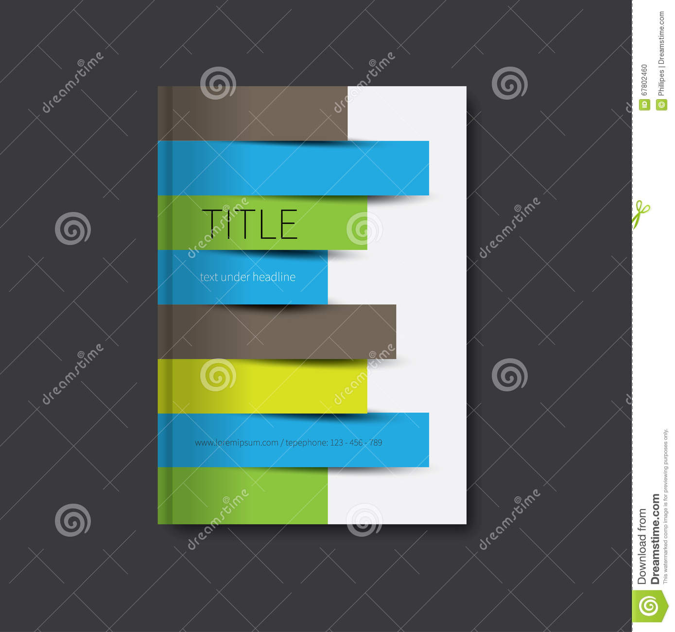 Book Cover Paper Design : Book design cover template stock vector image