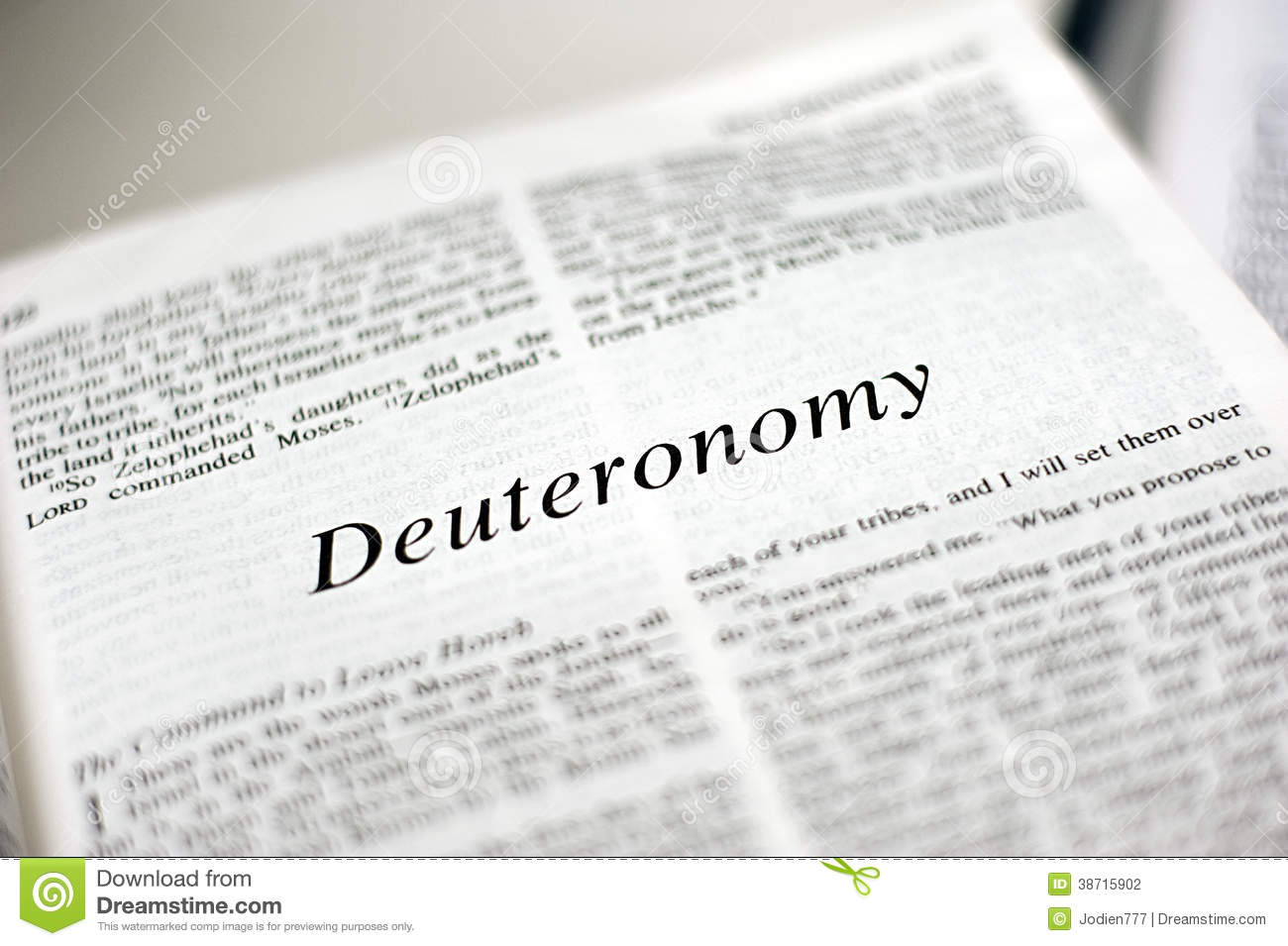 Book Of Deuteronomy Stock Photography - Image: 38715902