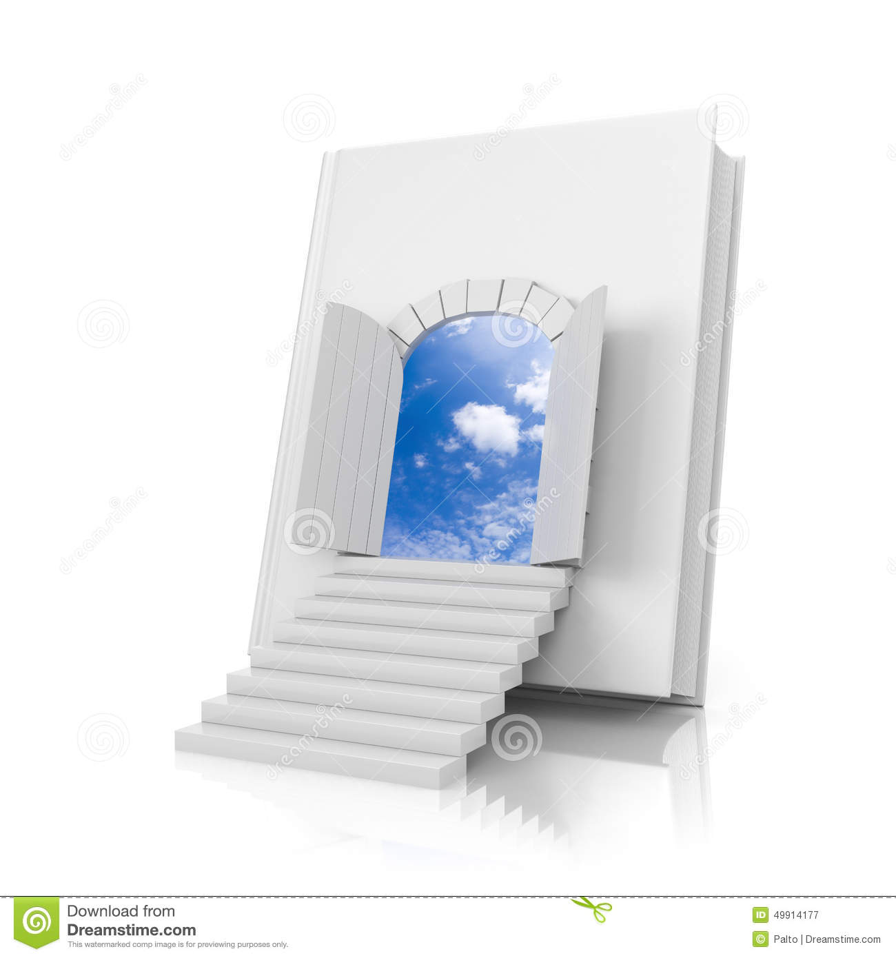 Book with door  sc 1 st  Dreamstime.com & Book with door stock illustration. Illustration of illustration ...