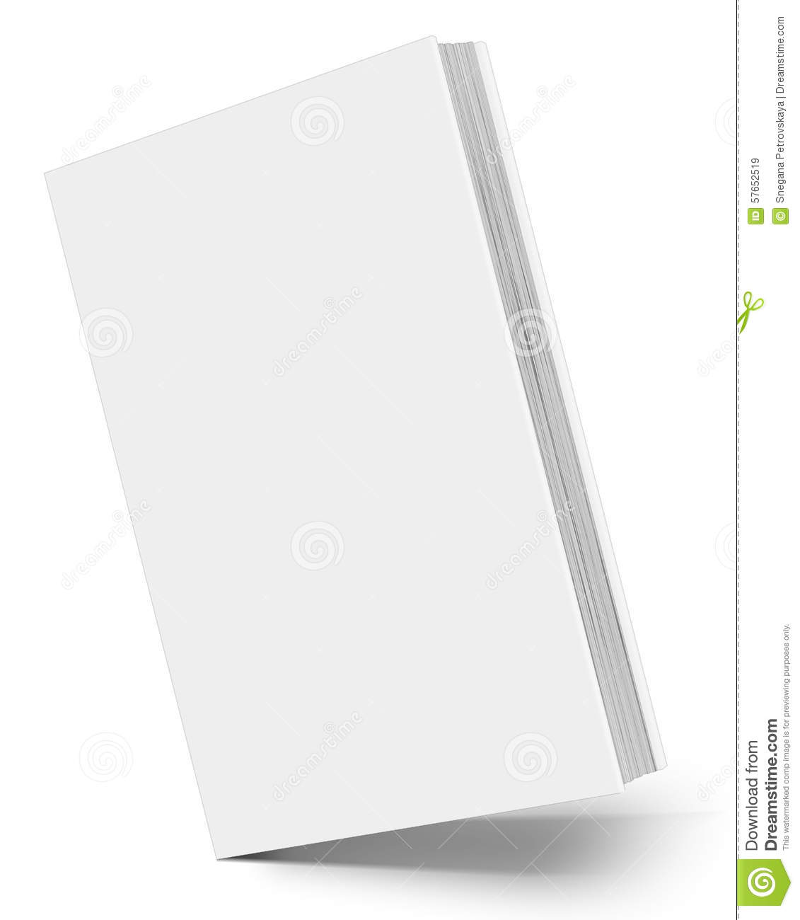 Hardcover Drawing Book : Book stock illustration image