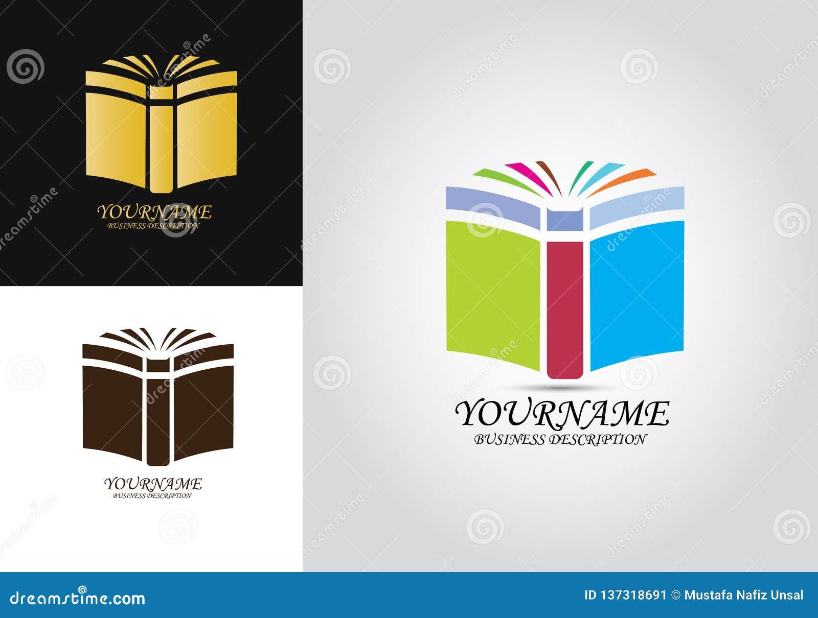 Book Education Vector Logo