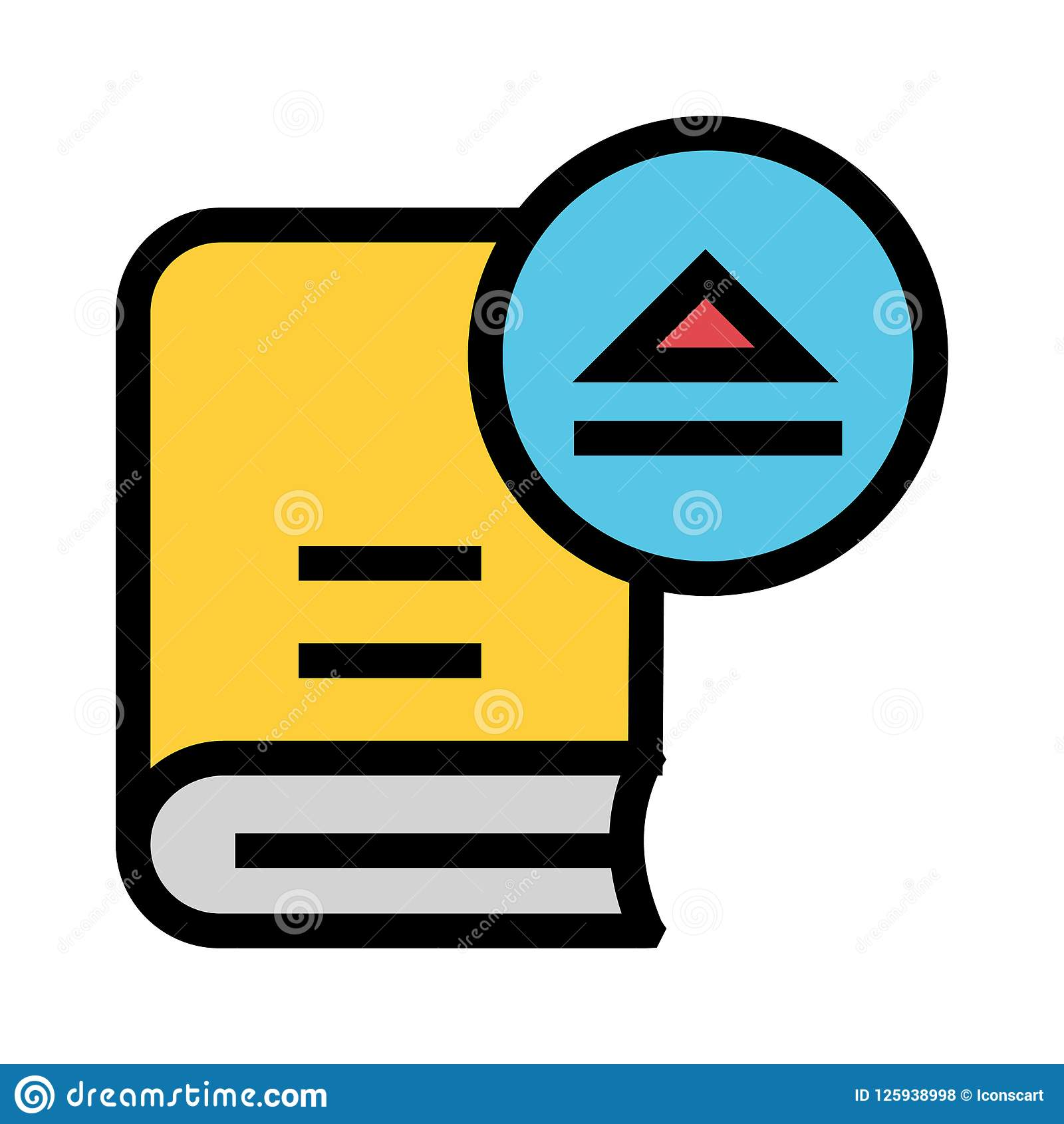 Book eject color line icon stock illustration. Illustration of ...