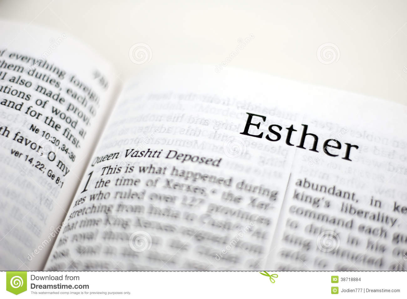 book of esther stock images image 38718884