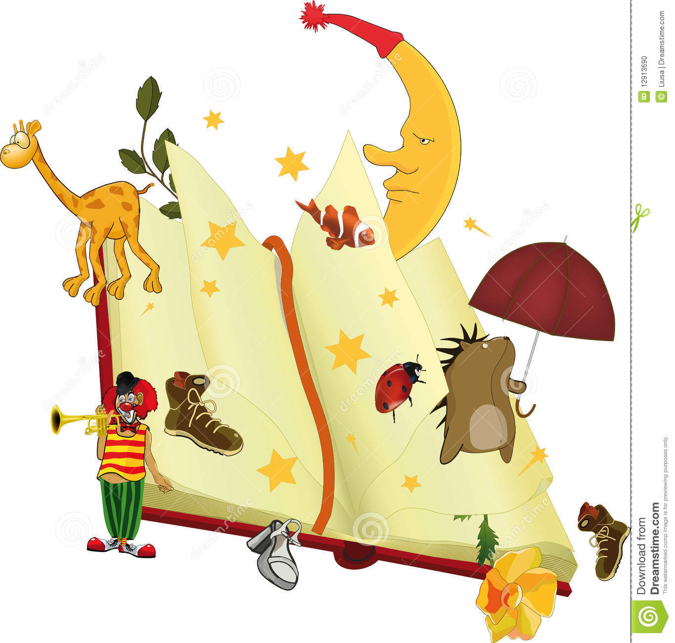 the book of fairy tales stock vector image of diary