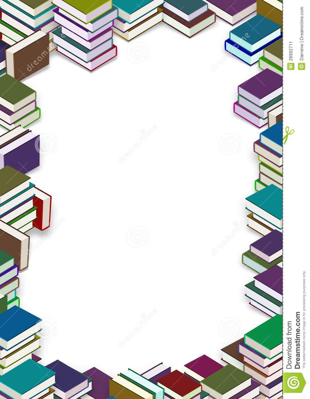 Book frame stock illustration. Illustration of border - 28992711