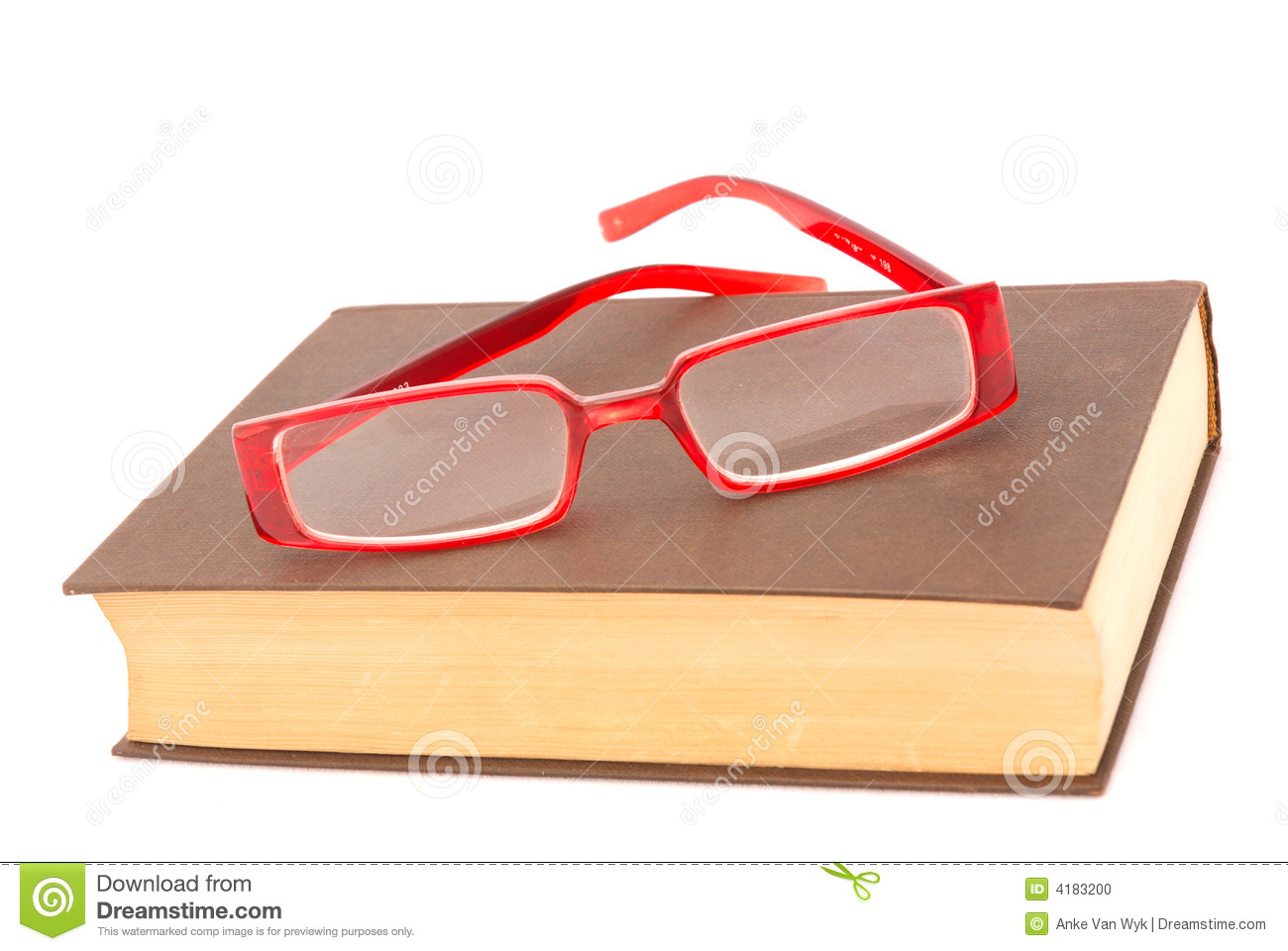 glasses on book - photo #21