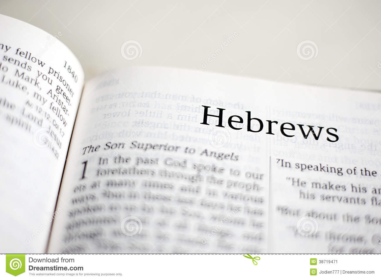 Book of Hebrews stock image. Image of poetry, prophecy ...