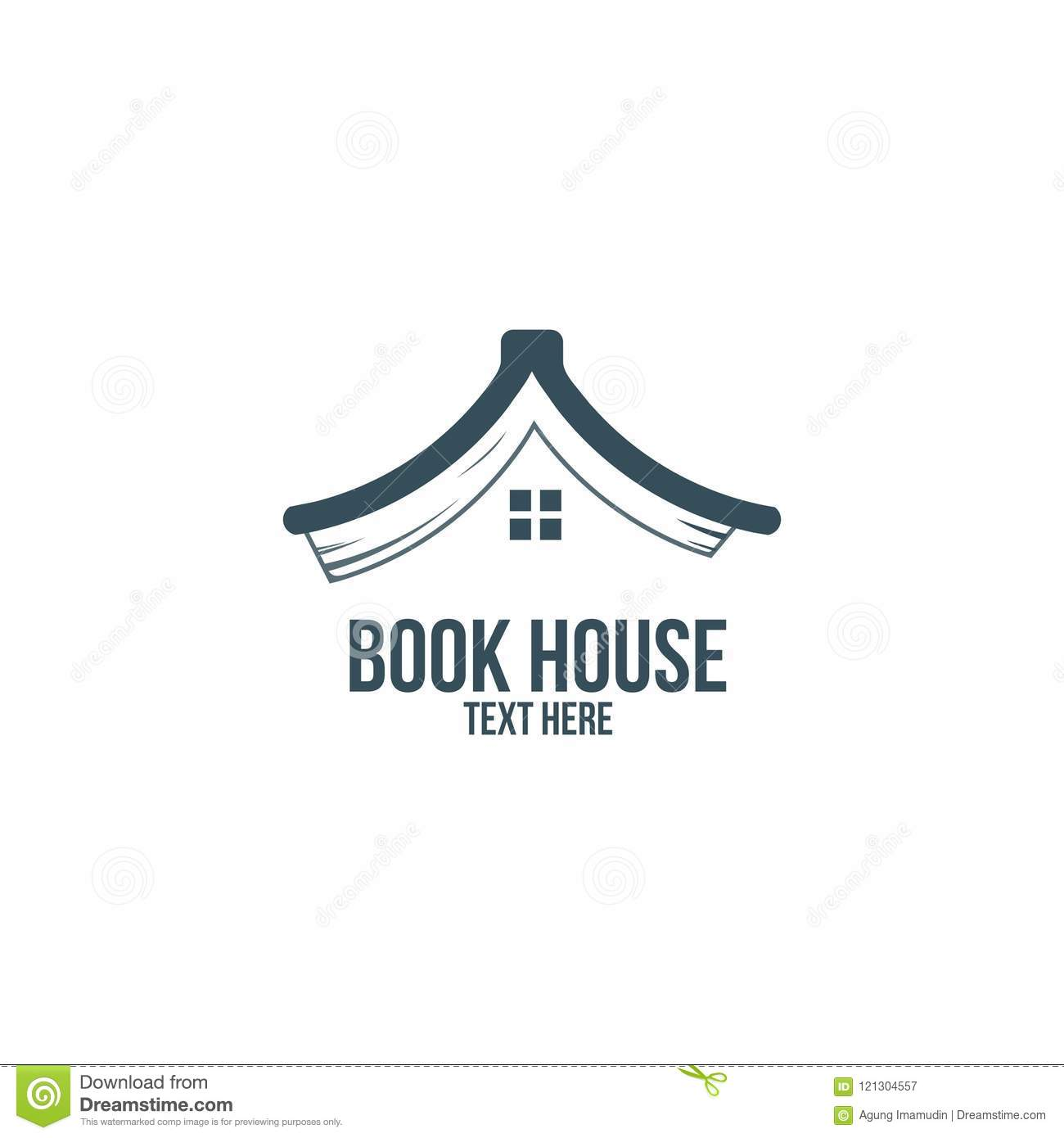 Book House Library Bookstore Logo Business Company Stock