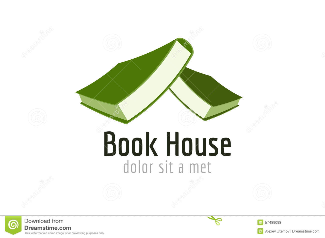 Book House Roof Template Logo Icon Back To School Stock