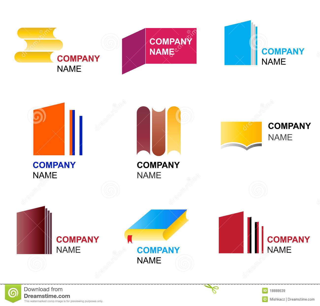 Book icon and logo designs stock vector. Image of high - 18888639
