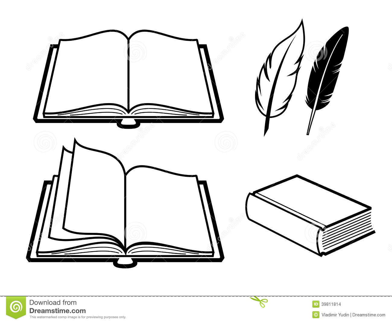 book icon stock vector illustration of empty textbook 39811814