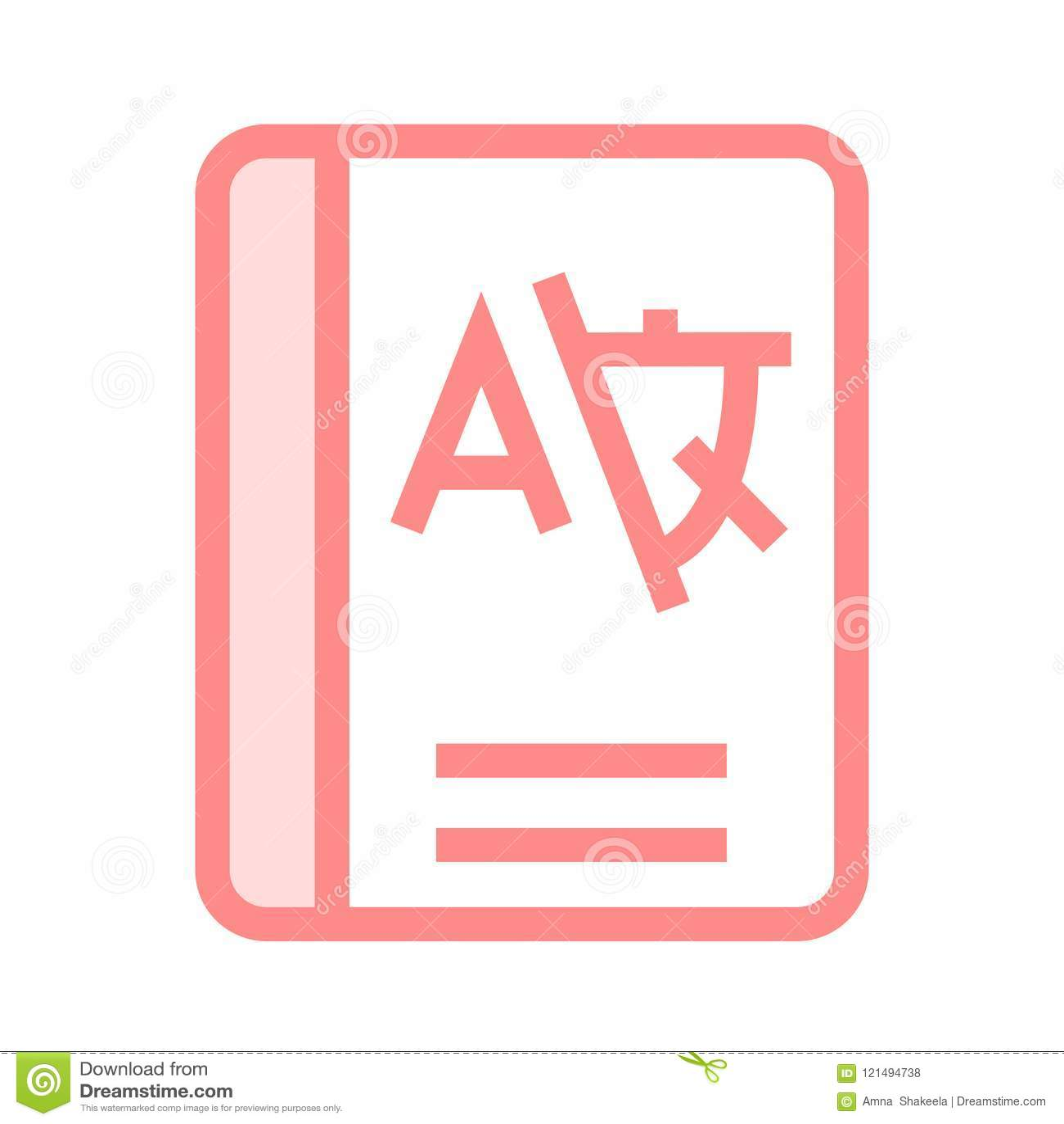Book Language Color Line Icon Stock Illustration - Illustration of ...