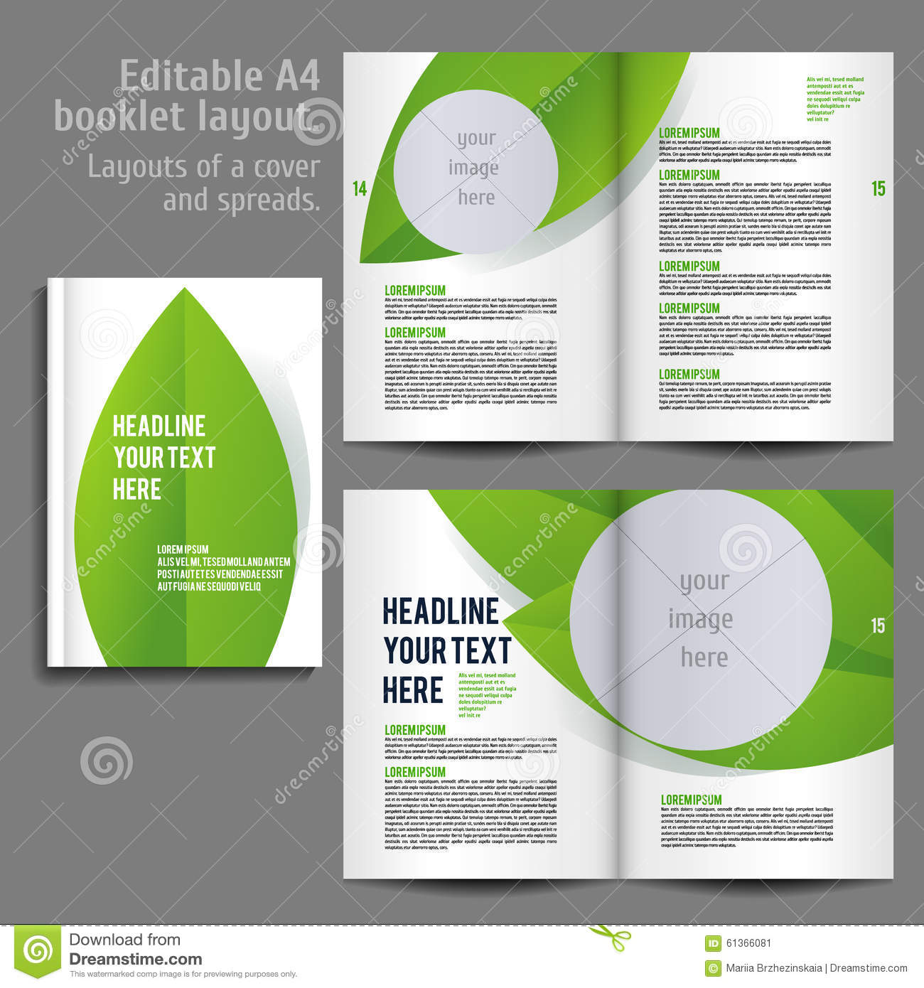 Book Cover Layouts : A book layout design template stock vector image