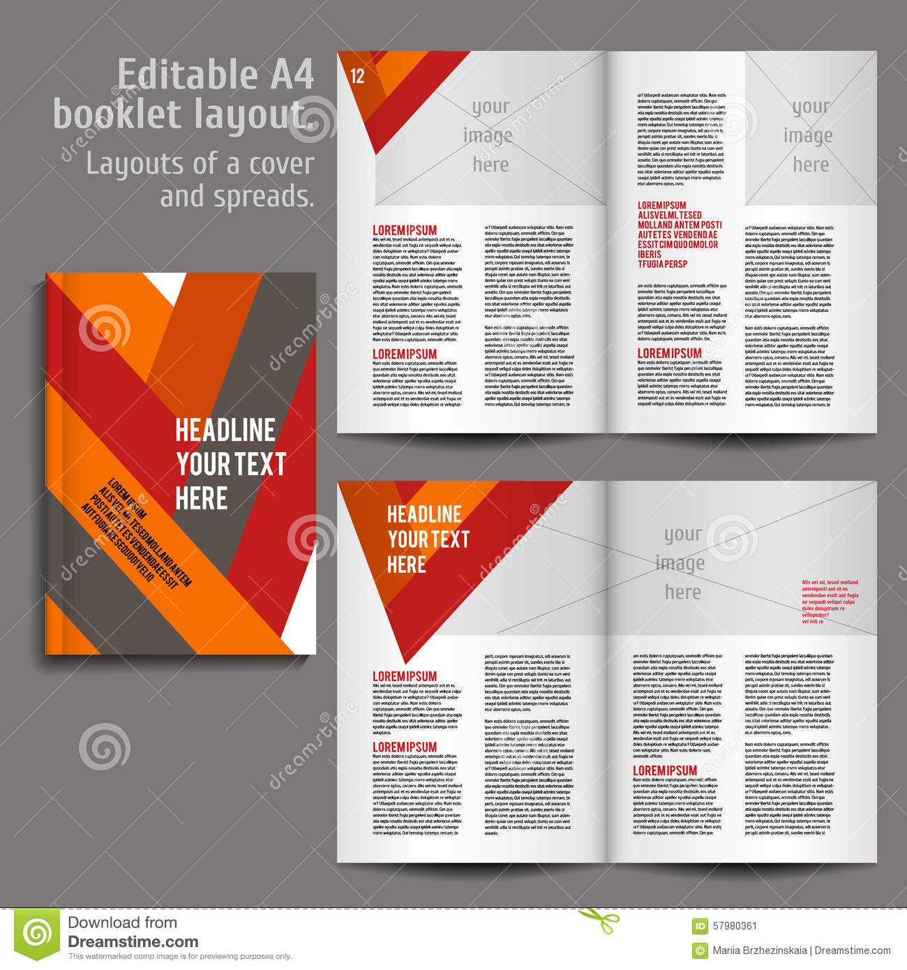 a4 book layout design template stock vector illustration of