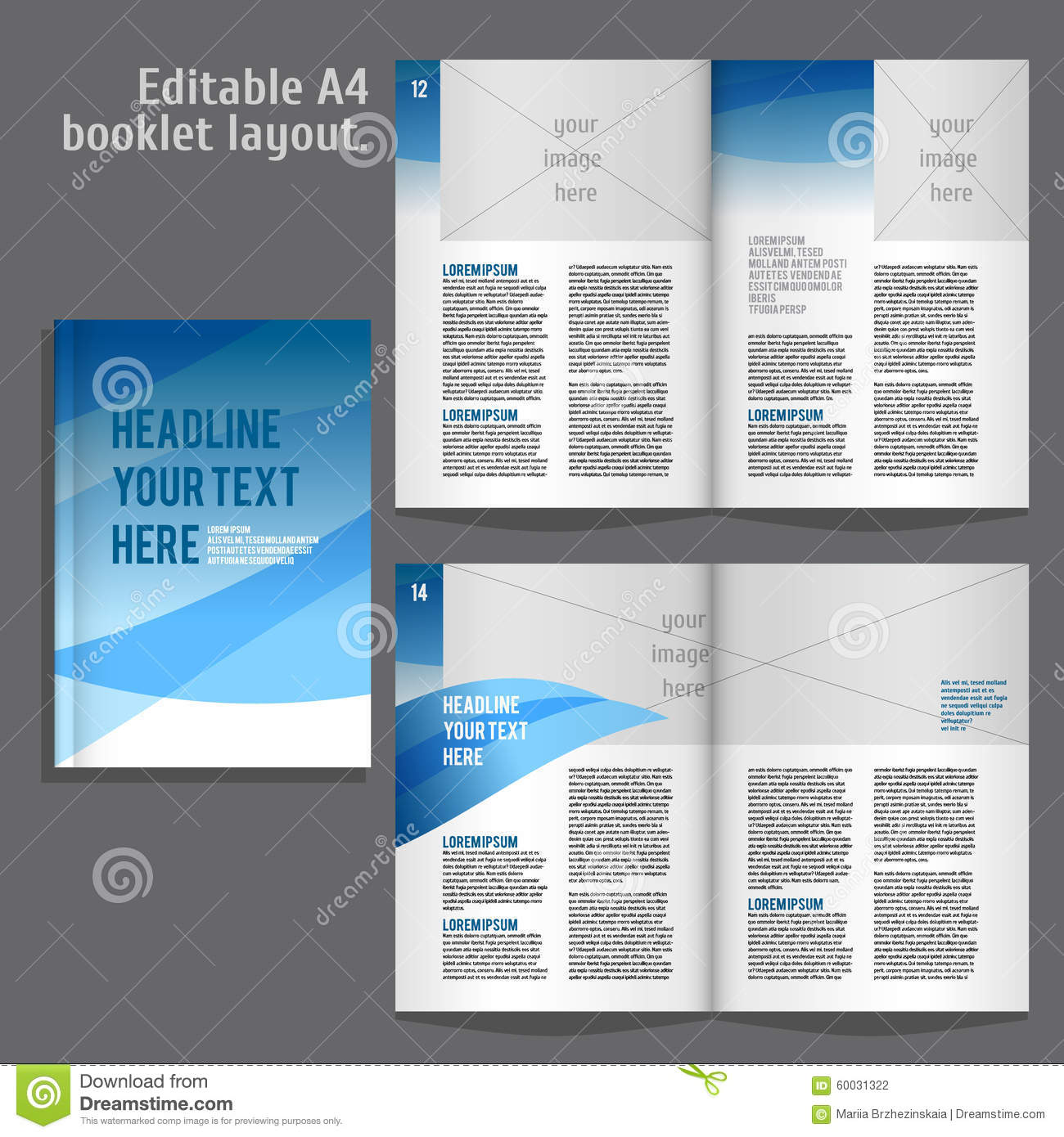 A4 book layout design template stock vector illustration of a4 book layout design template maxwellsz