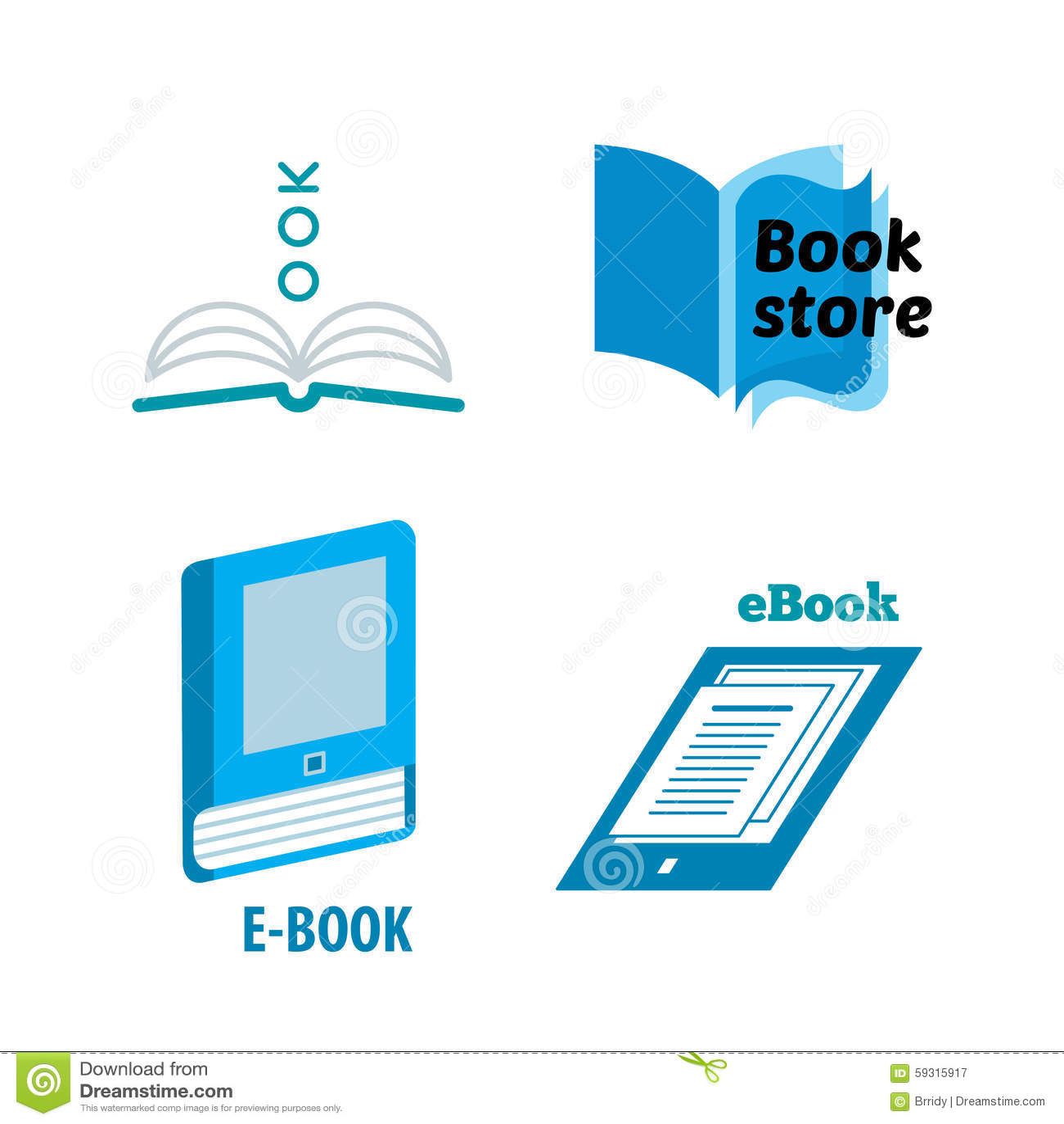Book logos stock vector image 42714029 - Top Logo Design Books Logo Design Paper And Ebooks Icons Book