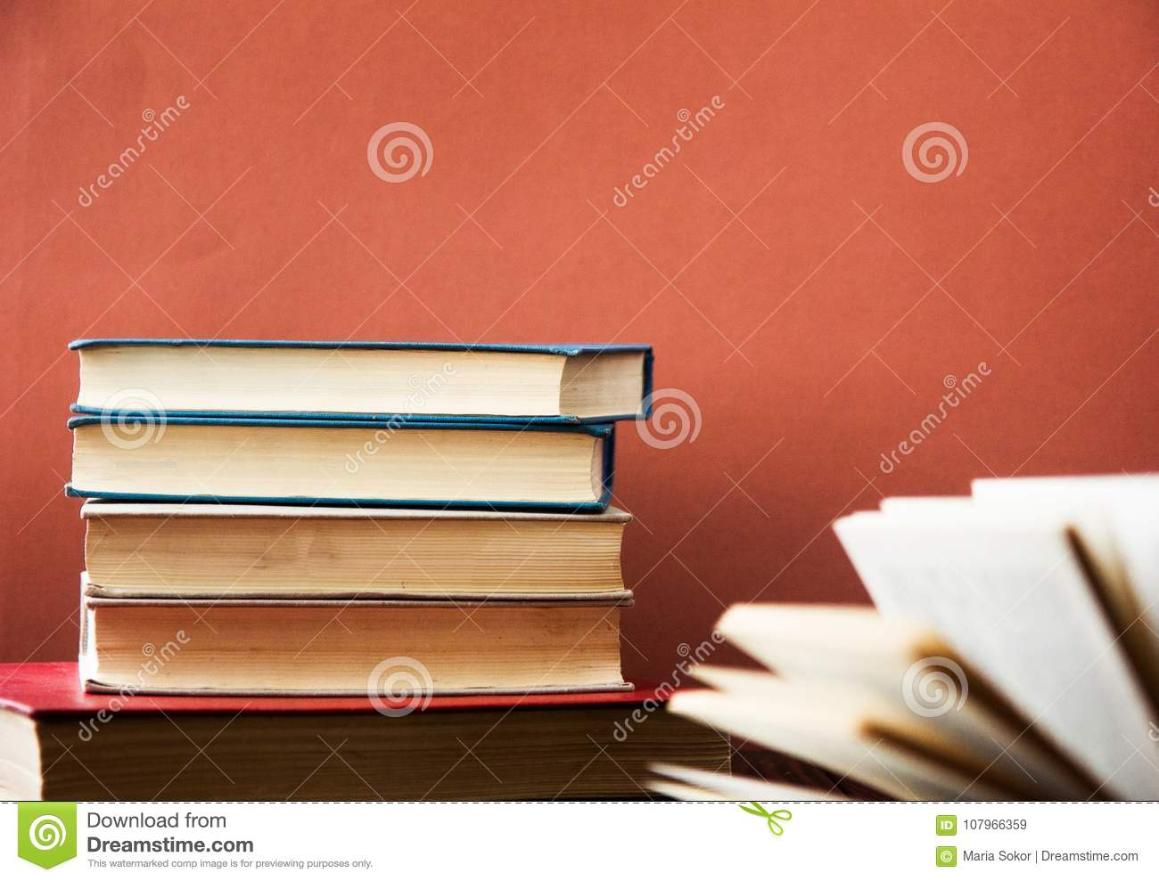 Book Many Books Stack Of Colorful Books Education Background