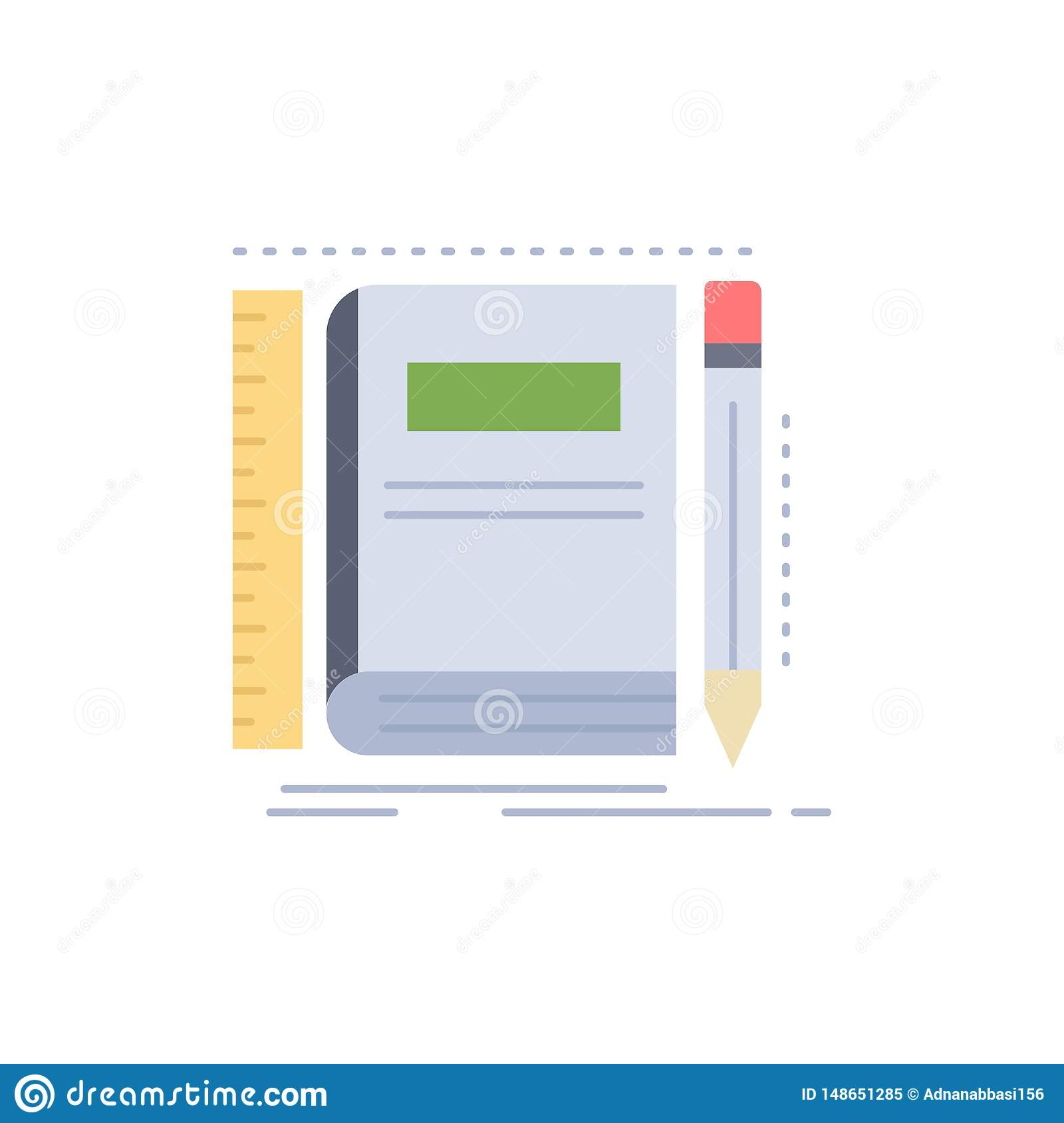 Book, notebook, notepad, pocket, sketching Flat Color Icon Vector
