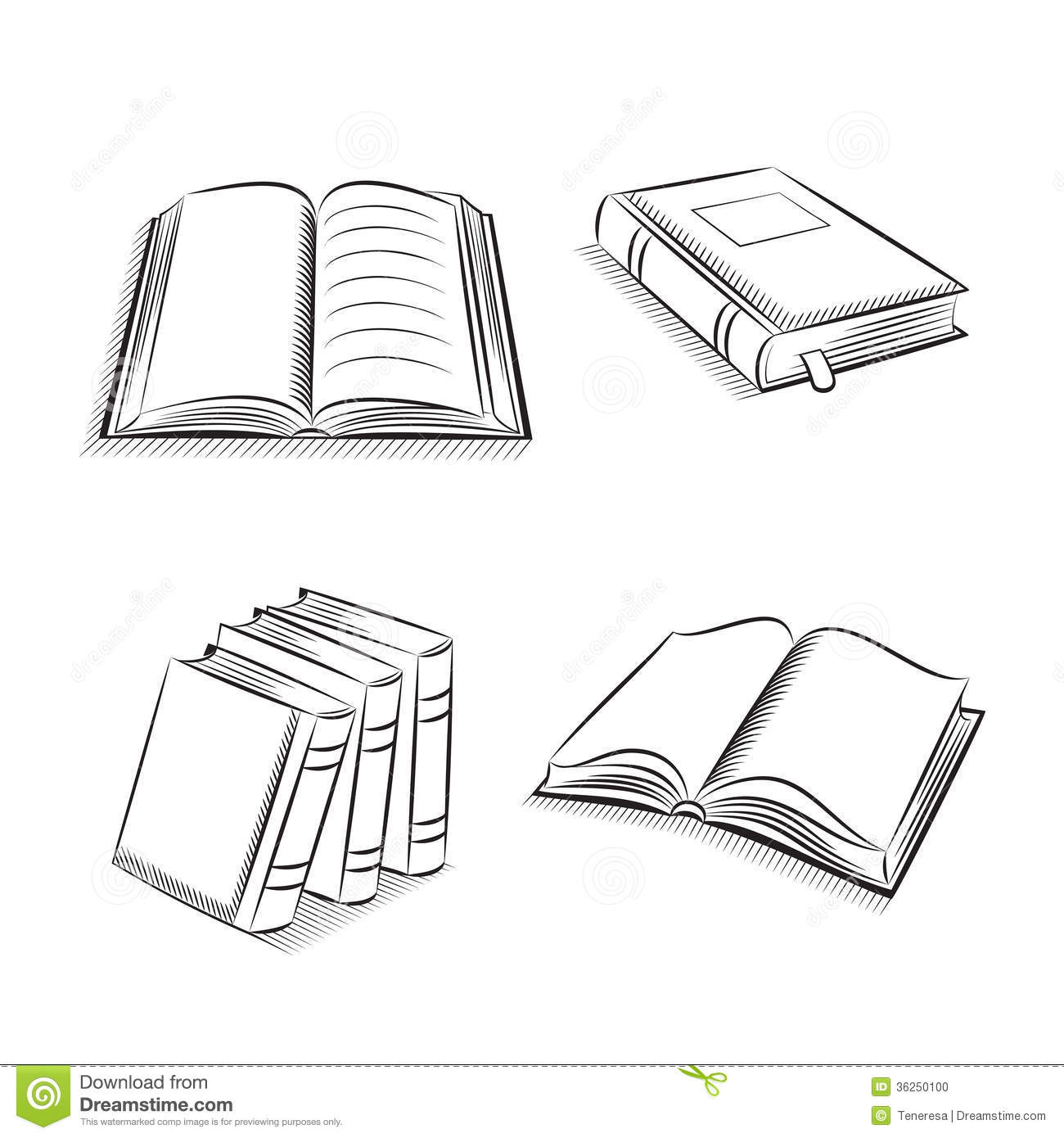 how to draw stacked books