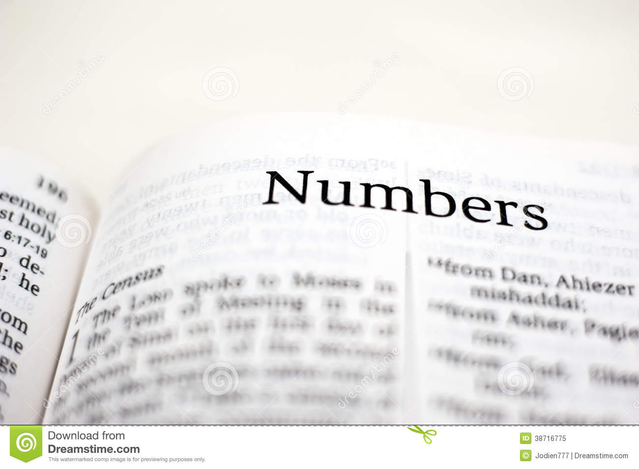 Book of Numbers stock image  Image of census, letter - 38716775