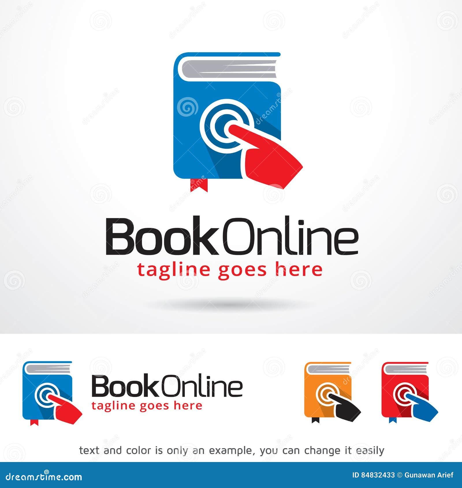 book online logo template design vector stock vector illustration