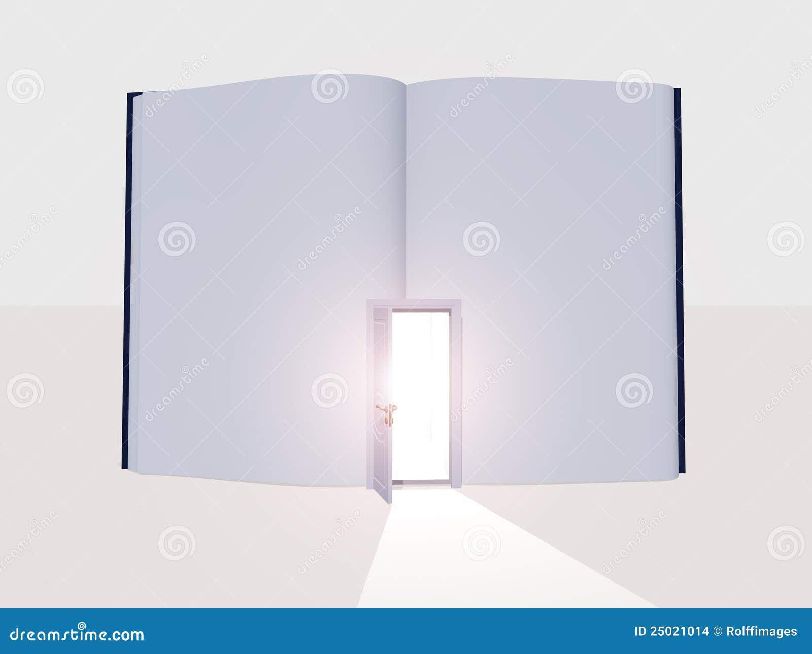 Book with open door  sc 1 st  Dreamstime.com & Book with open door stock illustration. Illustration of interior ...