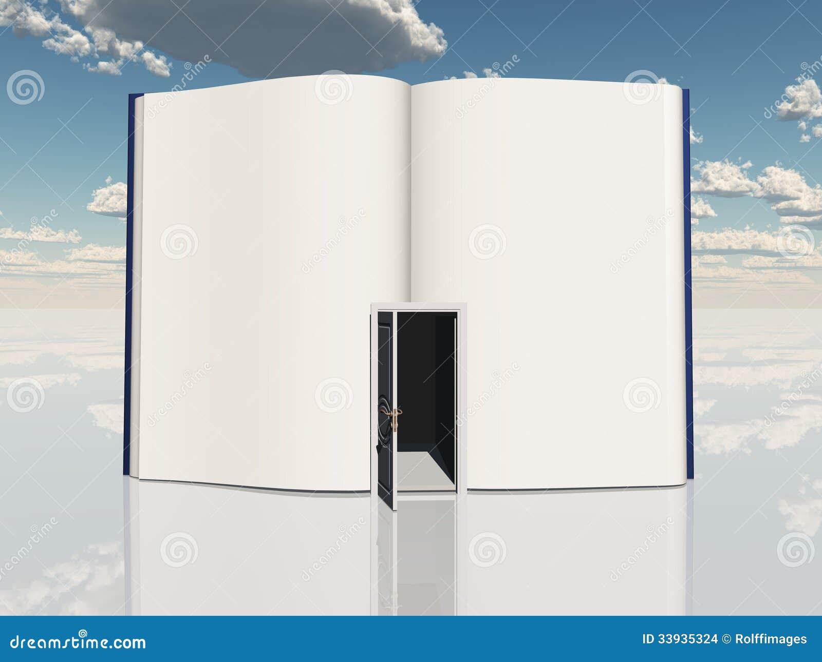Book with open door & Book with open door stock illustration. Illustration of achievement ...