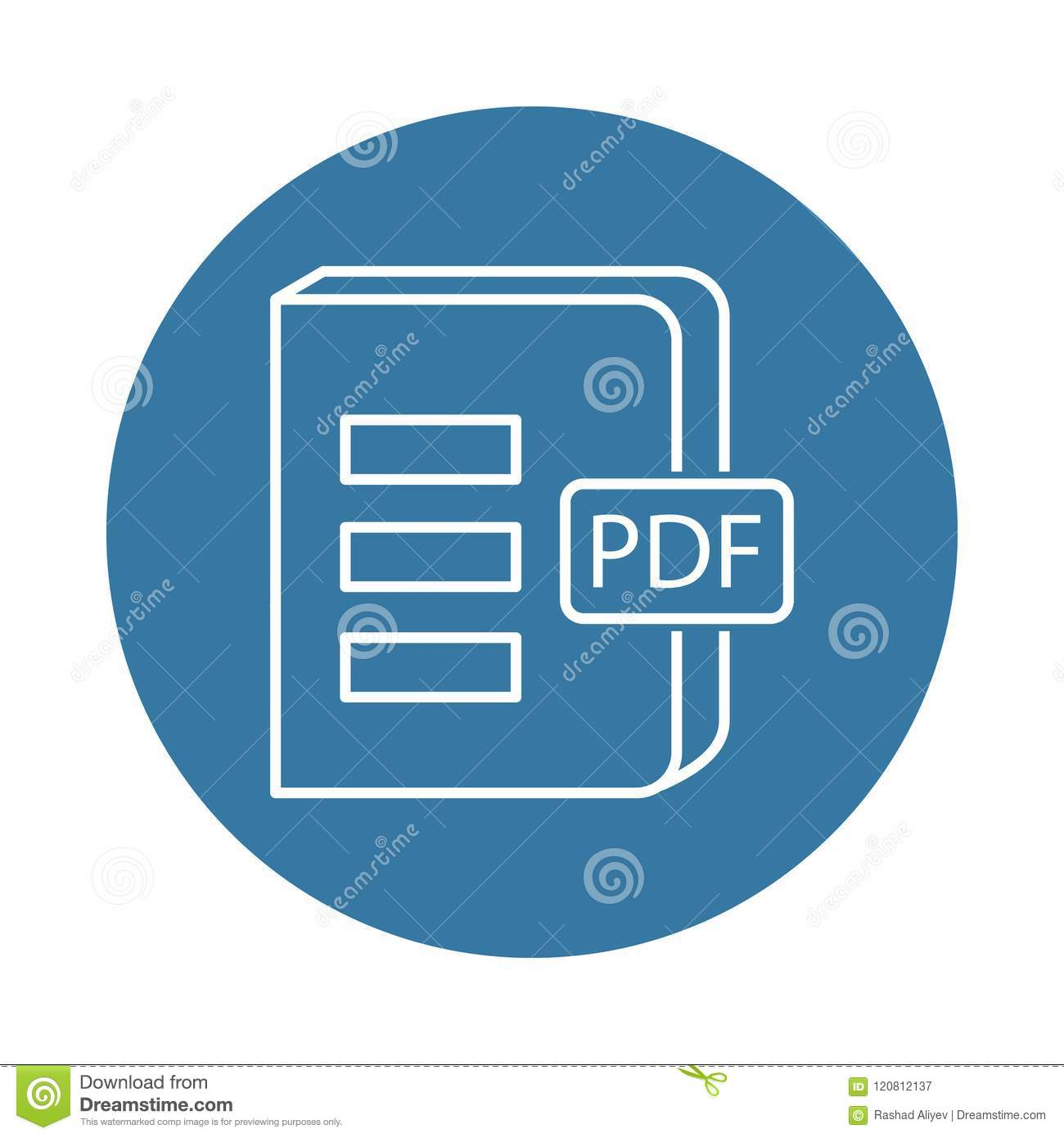 Book In PDF Format Icon  Element Of Books And Magazines
