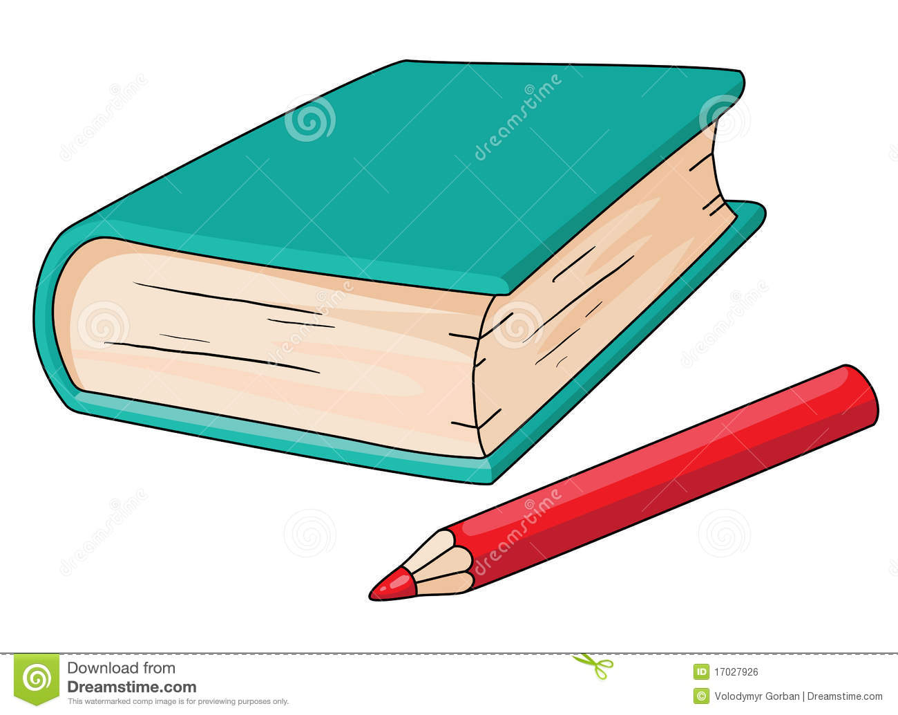 Book And Pencil Royalty Free Stock Image - Image: 17027926