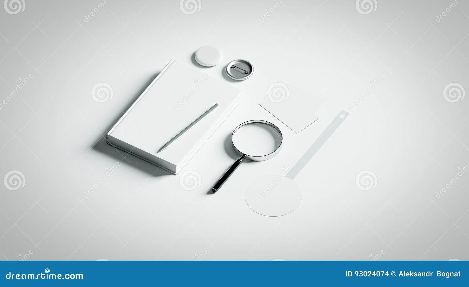 Book Presentation Design Mockup Elements, Stock Photo